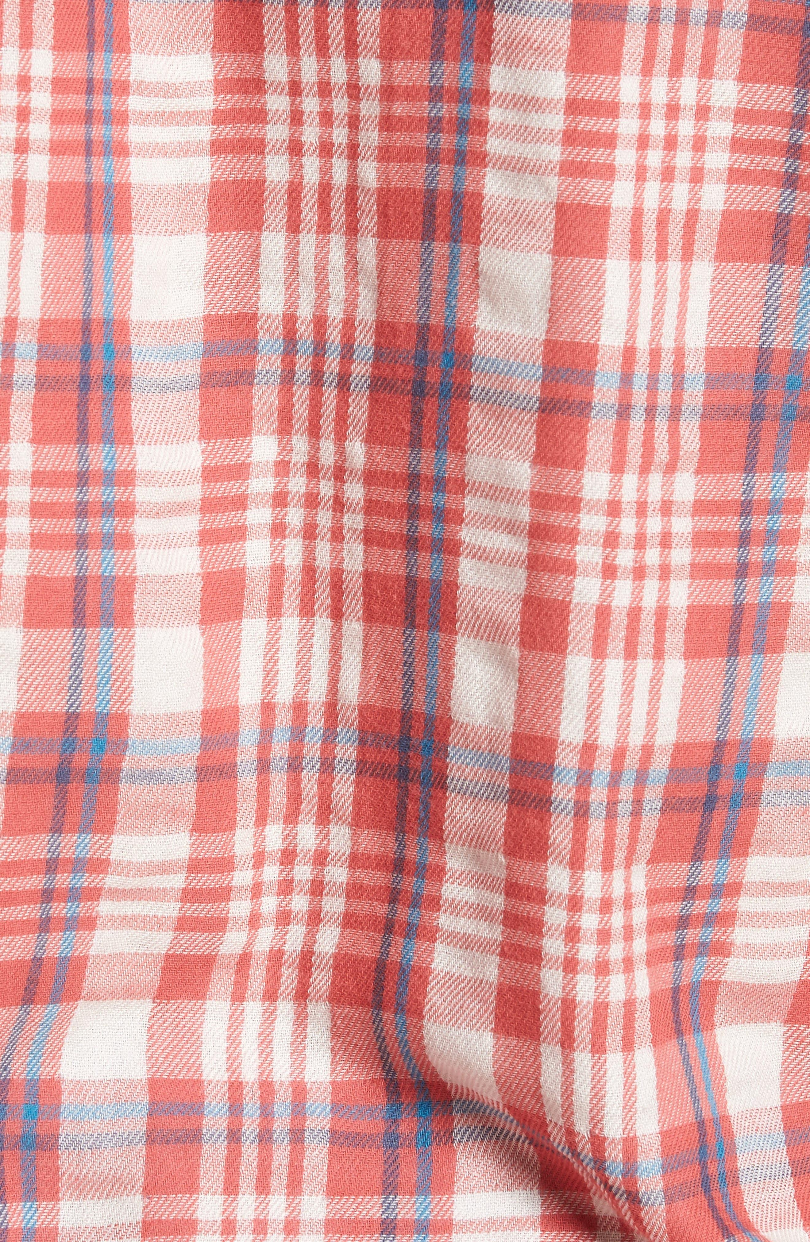 Barnard Slim Fit Plaid Sport Shirt,                             Alternate thumbnail 5, color,                             647
