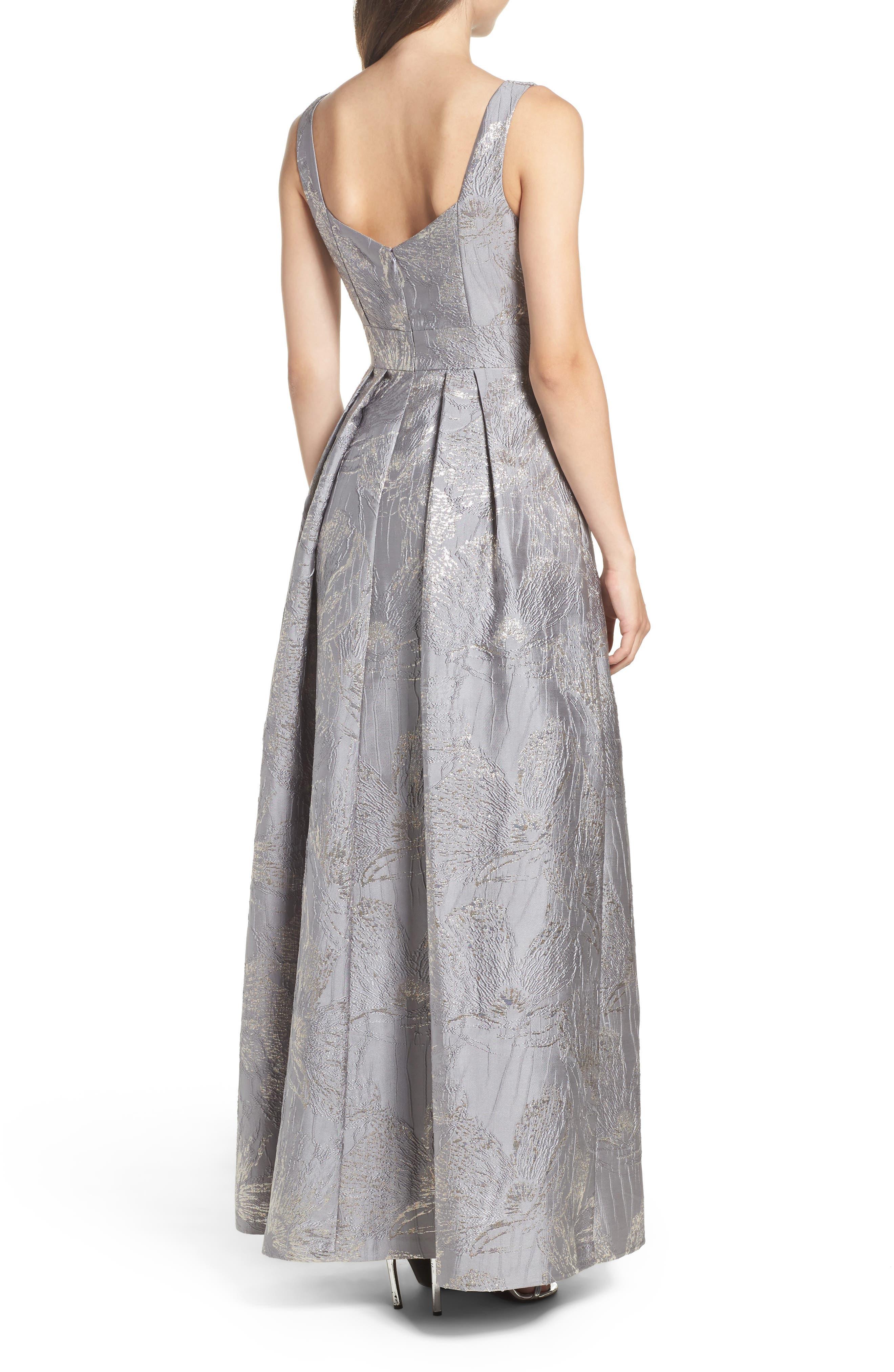 Embellished Brocade Ballgown,                             Alternate thumbnail 2, color,                             040