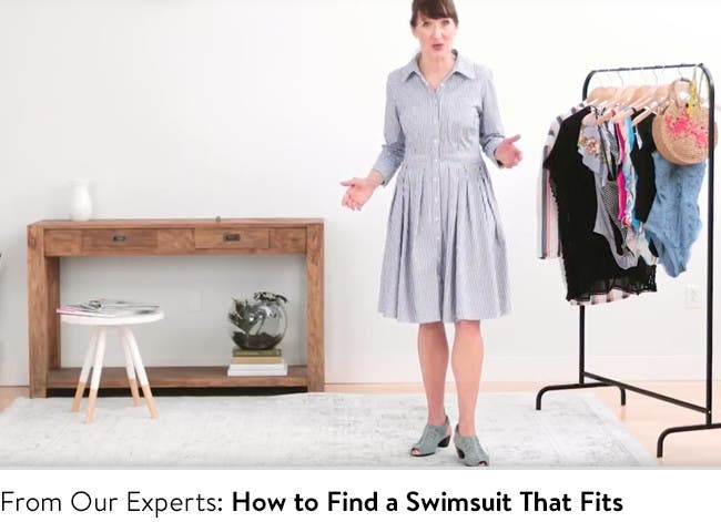 Play video to learn how to find a swimsuit that fits.