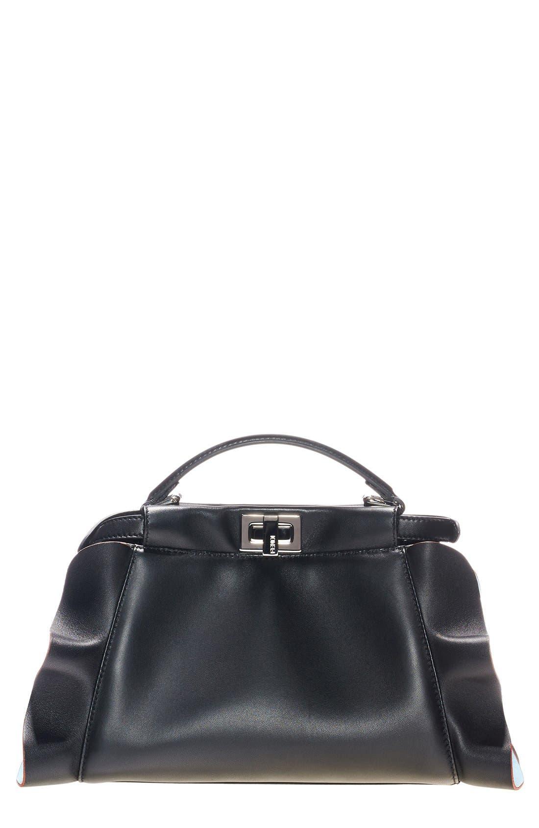 'Mini Peekaboo - Wave' Leather Bag,                         Main,                         color, 015