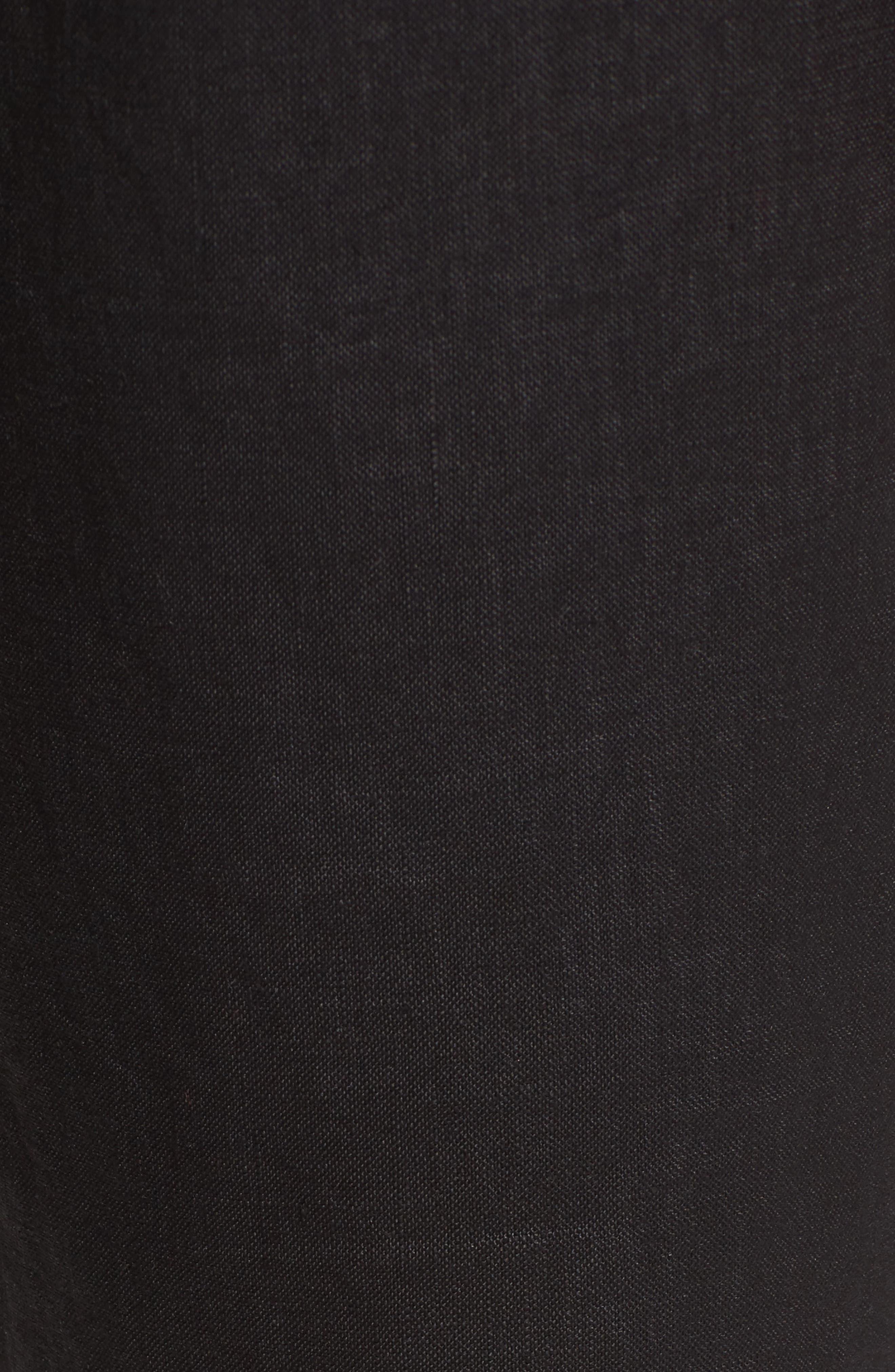 Linen Jogger Pants,                             Alternate thumbnail 6, color,                             BLACK