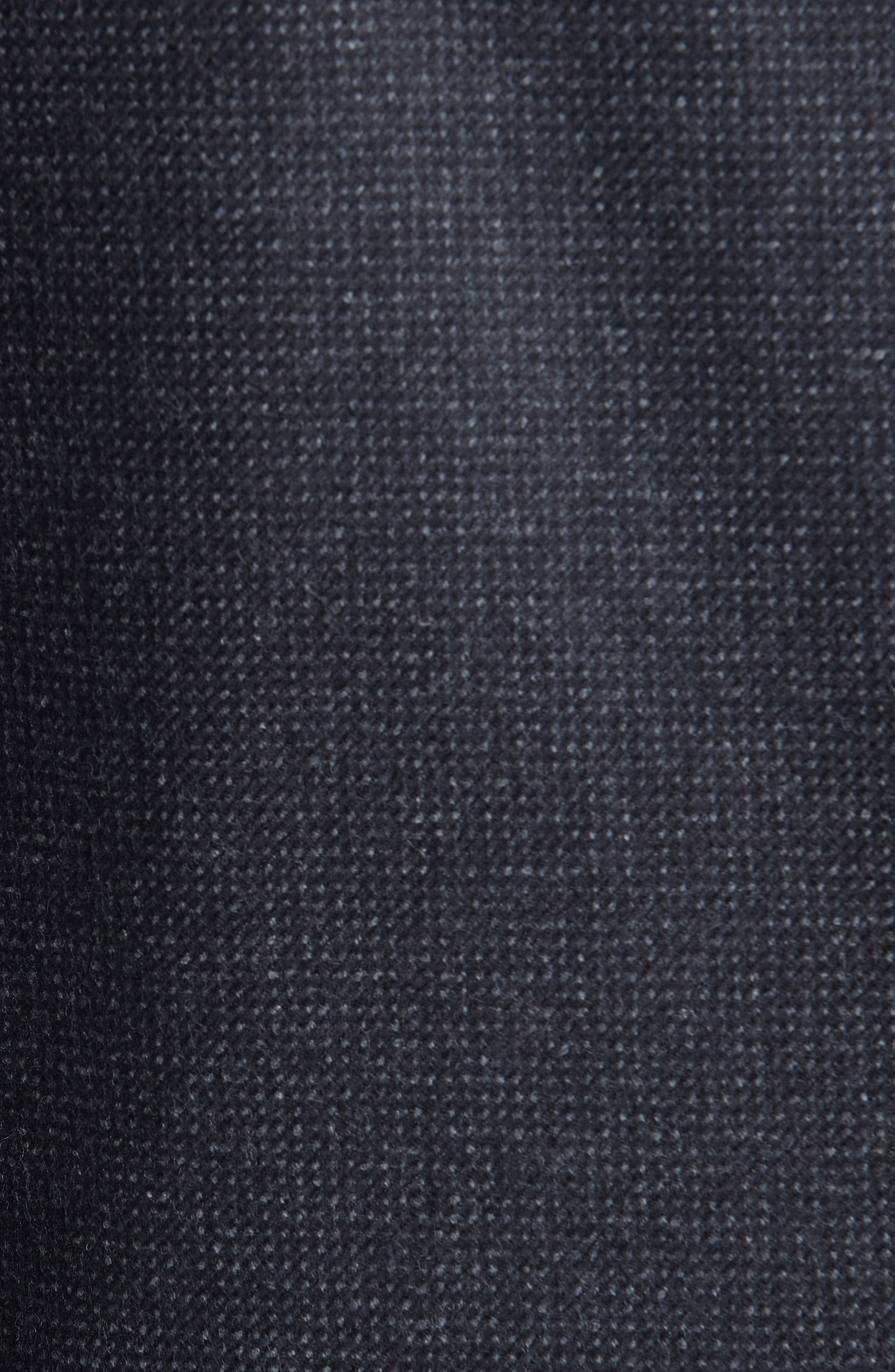 Solid Wool Top Coat,                             Alternate thumbnail 6, color,                             CHARCOAL