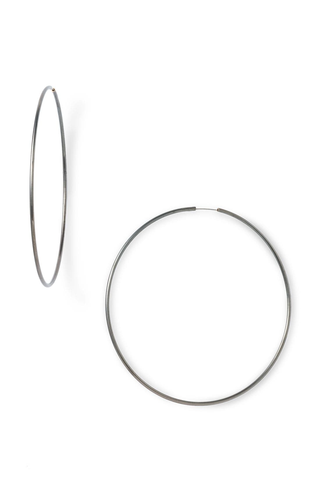 Endless Oversized Hoop Earrings,                             Main thumbnail 1, color,                             001
