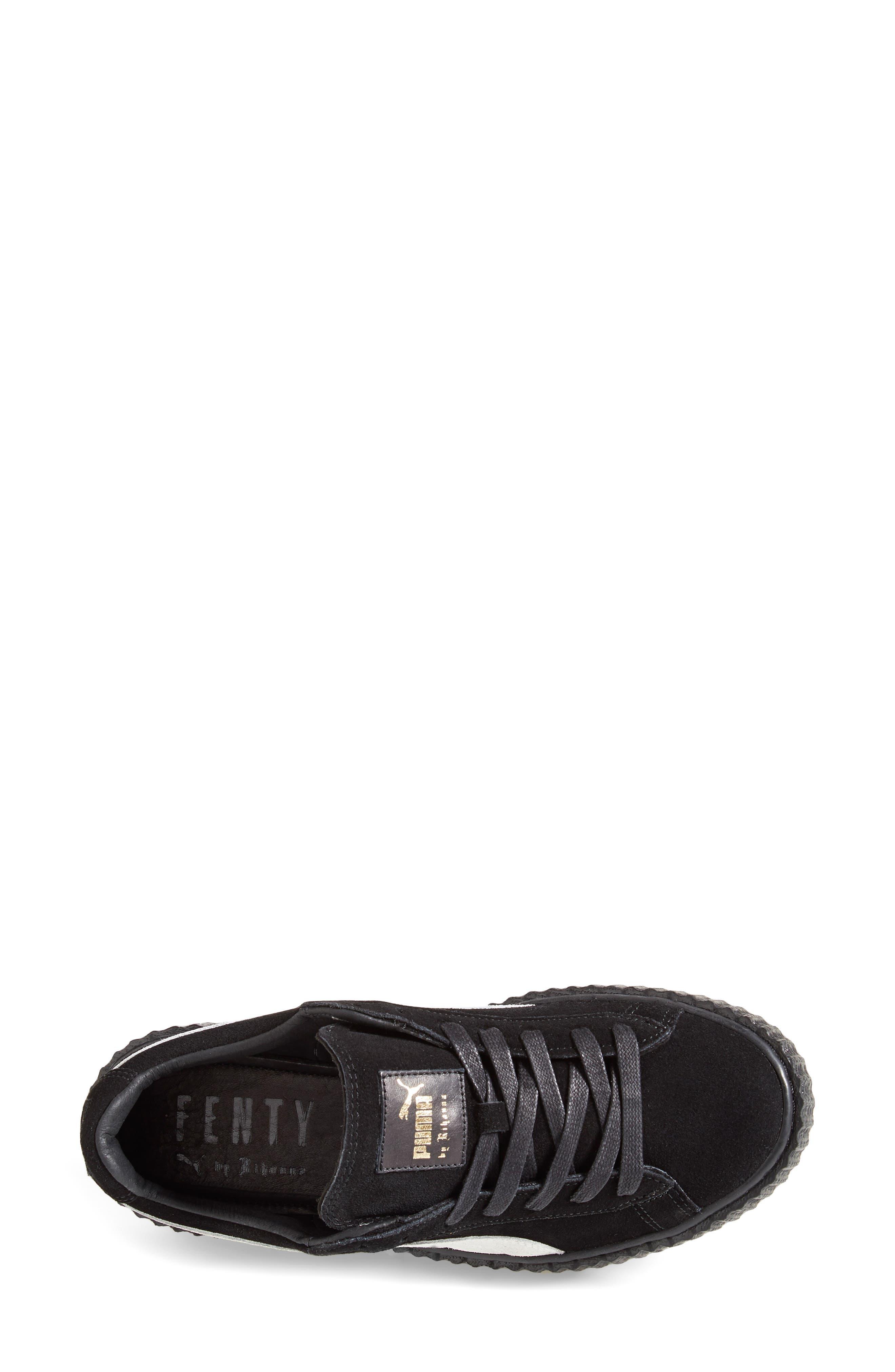 FENTY PUMA by Rihanna Creeper Sneaker,                             Alternate thumbnail 4, color,                             001