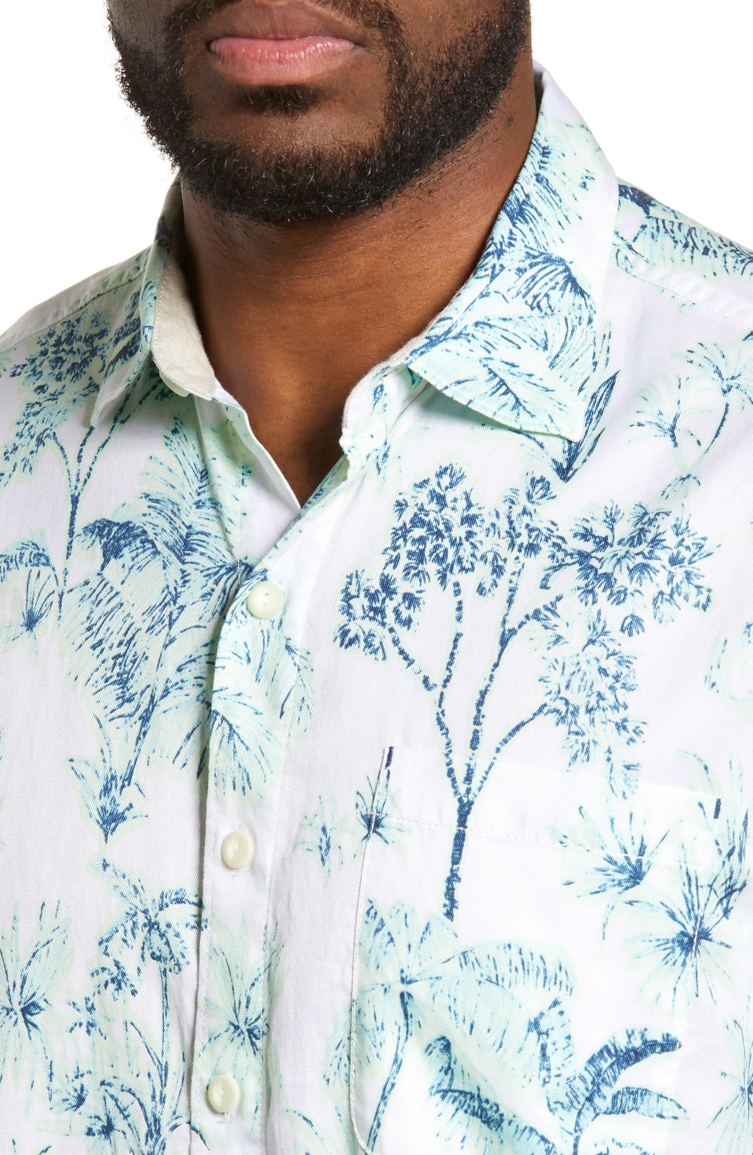 Tropic Mist Woven Shirt,                             Alternate thumbnail 2, color,                             GLOWING GREEN