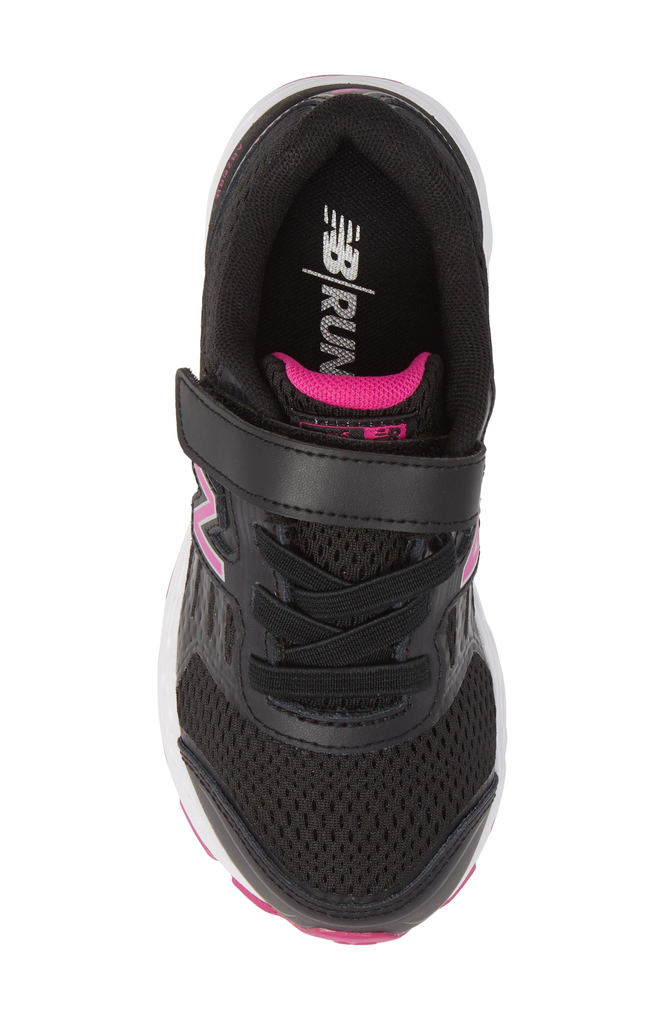 680v5 Sneaker,                             Alternate thumbnail 5, color,                             BLACK/ AZALEA