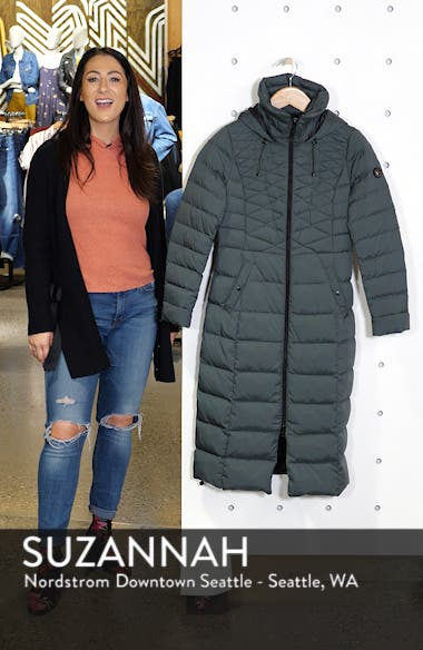 Quilted Long Coat with Down & PrimaLoft<sup>®</sup> Fill, sales video thumbnail