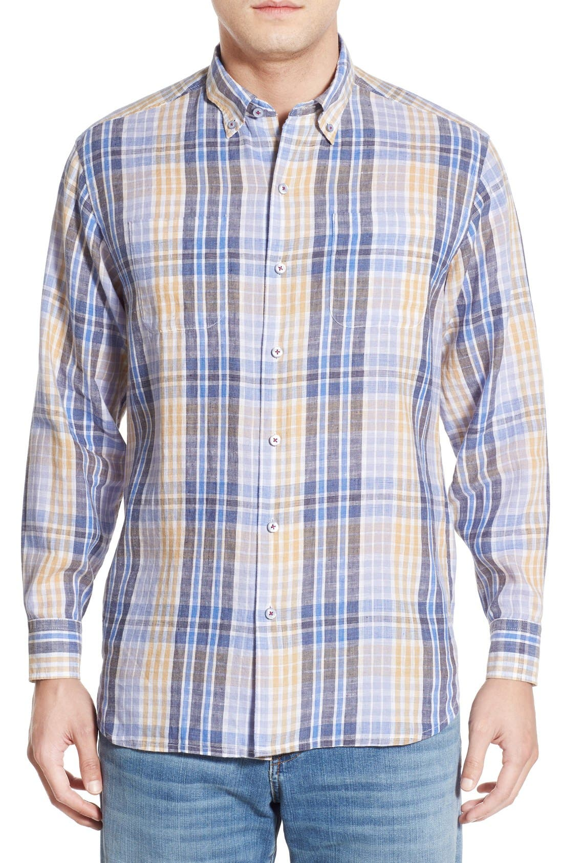 'Sun Direction' Regular Fit Plaid Sport Shirt,                             Main thumbnail 2, color,