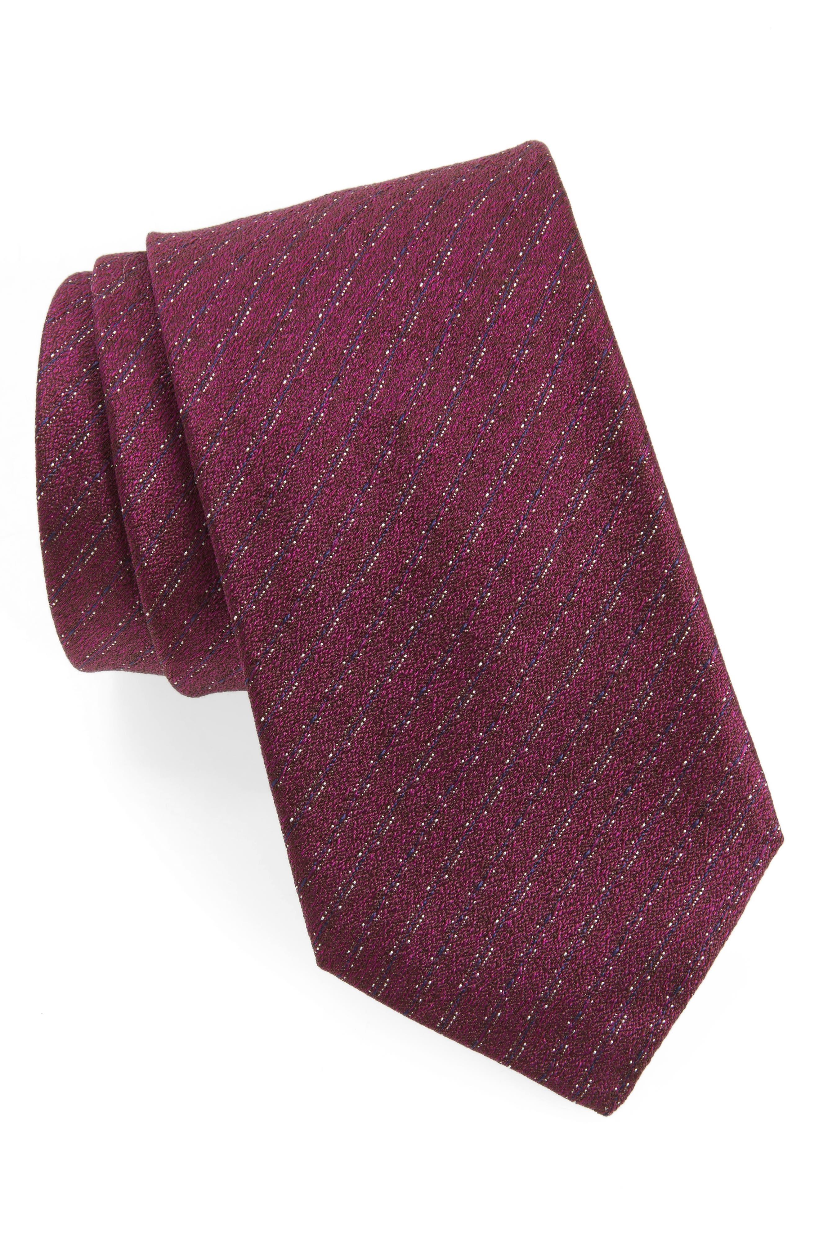 Stripe Silk Tie,                         Main,                         color, 659