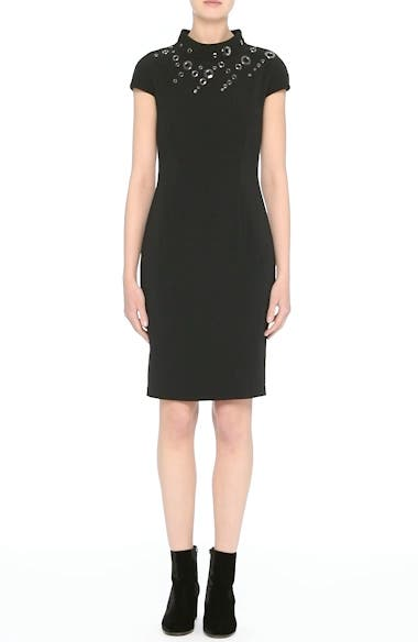 Stretch Cady Funnel Neck Dress, video thumbnail