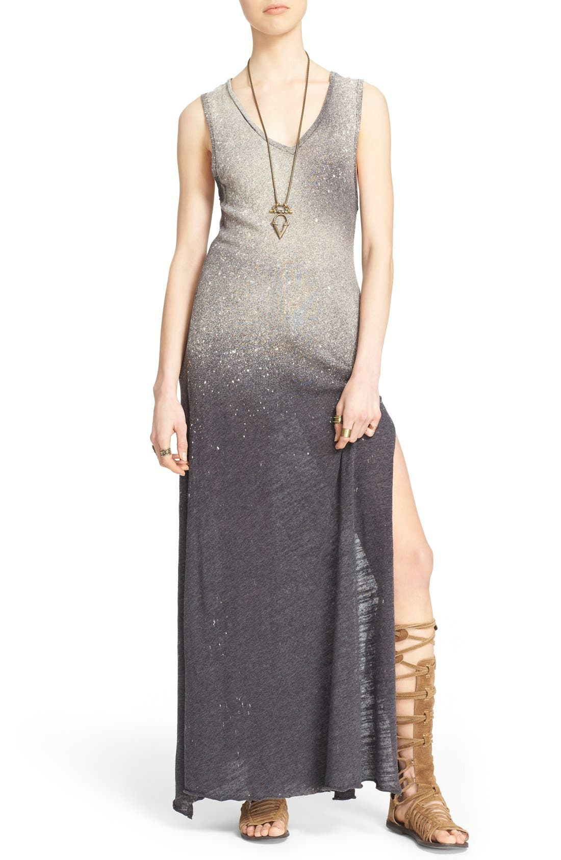 FREE PEOPLE 'Galaxy' Maxi Dress, Main, color, 001
