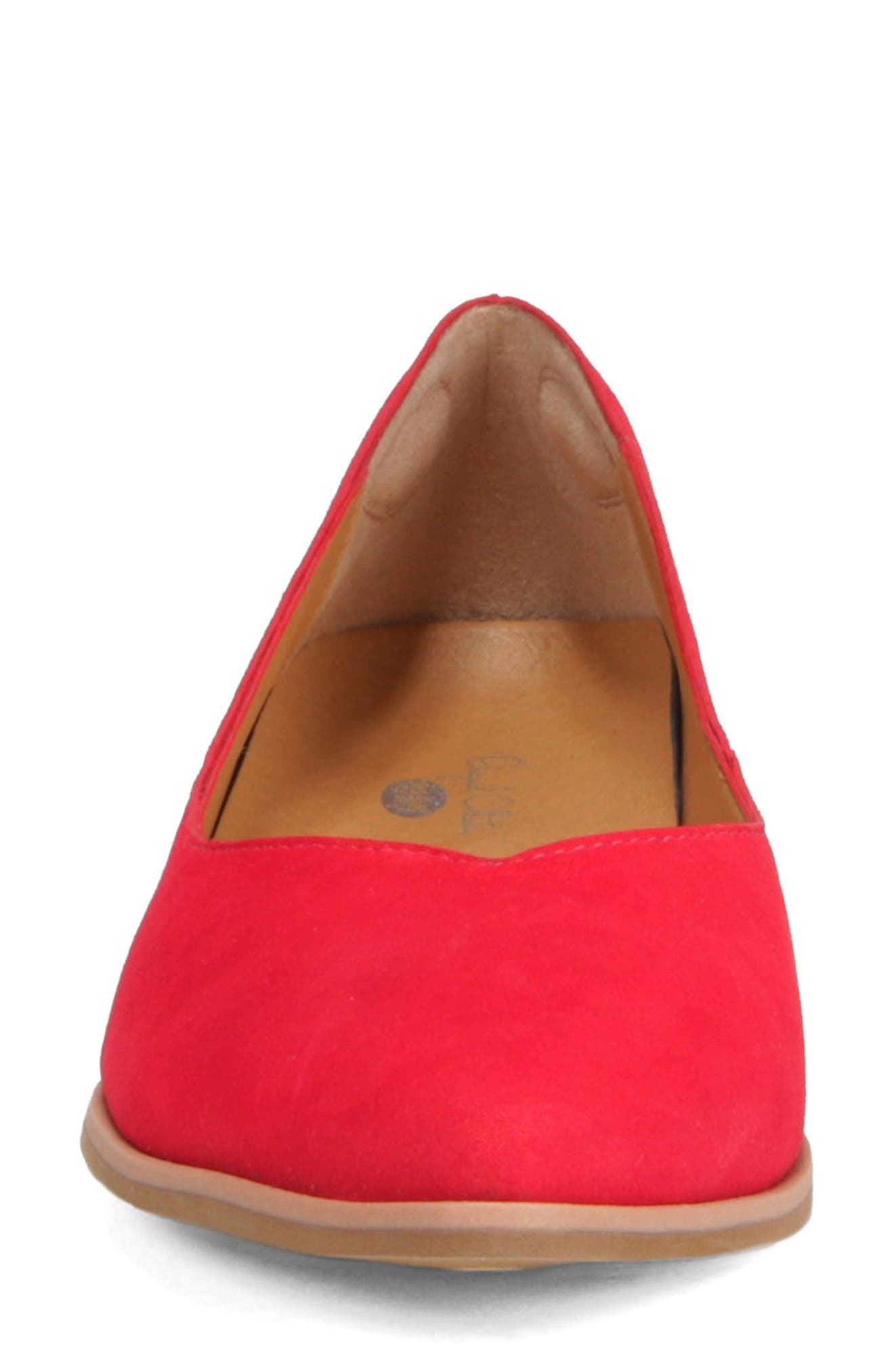 Dr. Scholls Flair Flat,                             Alternate thumbnail 4, color,                             RED LEATHER