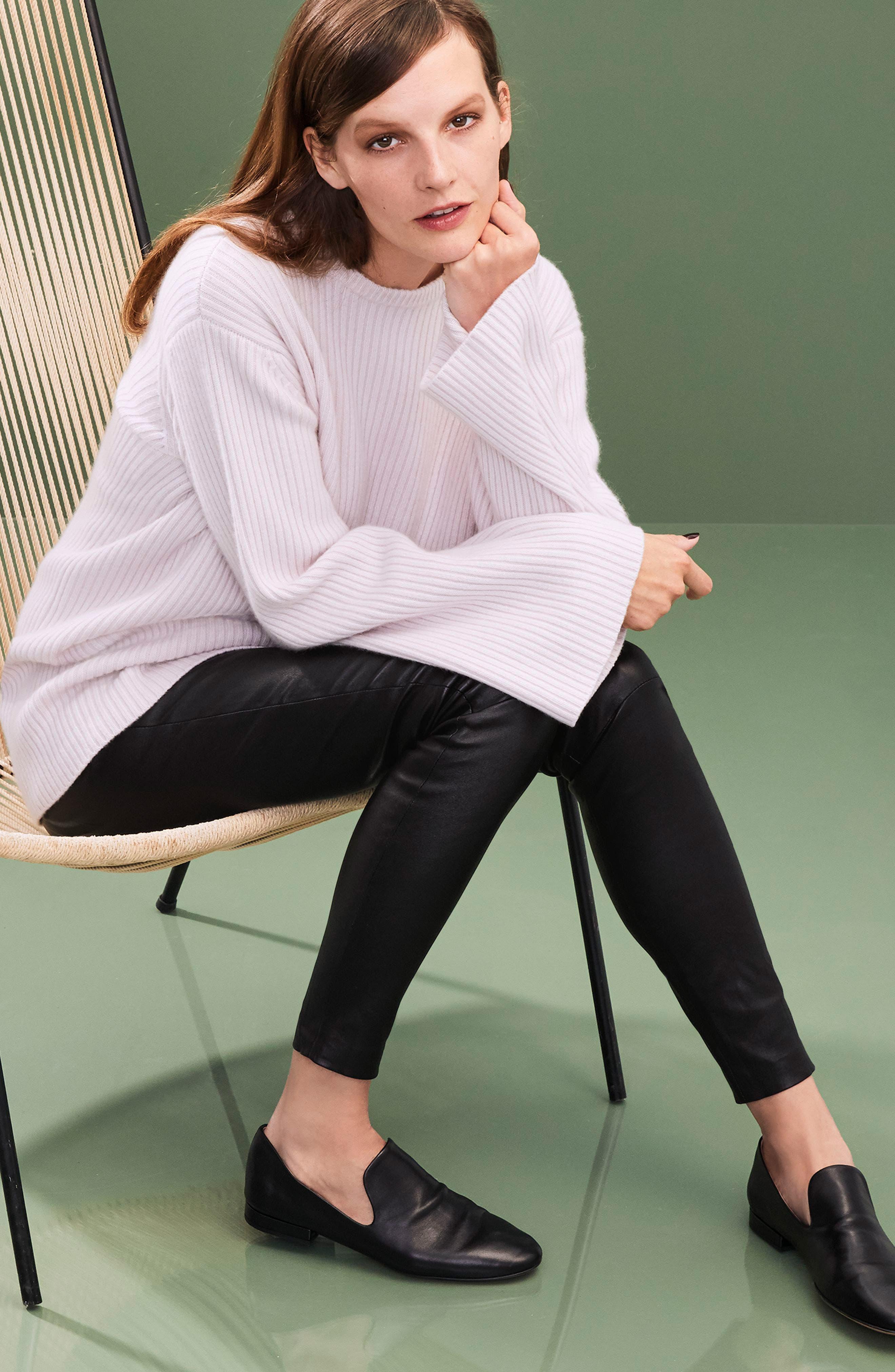 Tie Back Cashmere Blend Sweater,                             Alternate thumbnail 7, color,                             030