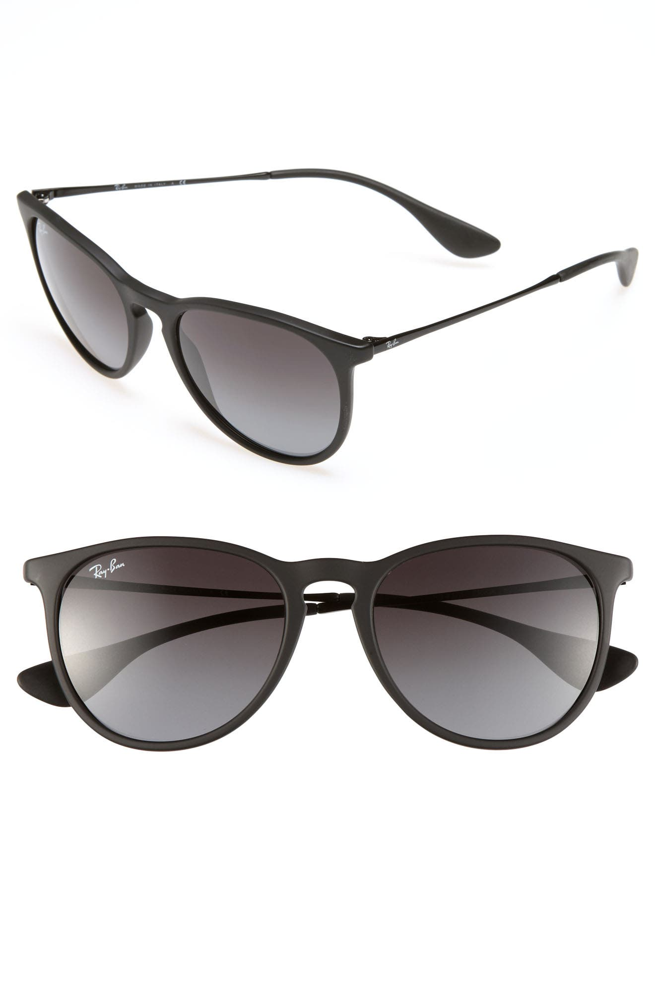 Erika Classic 54mm Sunglasses,                             Alternate thumbnail 2, color,                             BLACK/ GREY GRADIENT