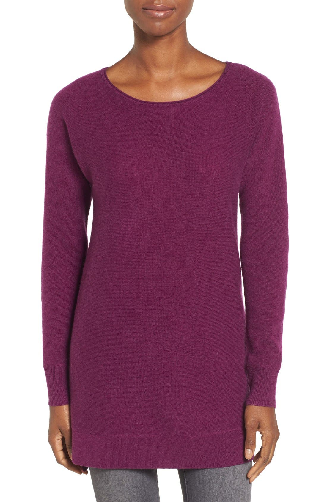 High/Low Wool & Cashmere Tunic Sweater,                             Main thumbnail 12, color,