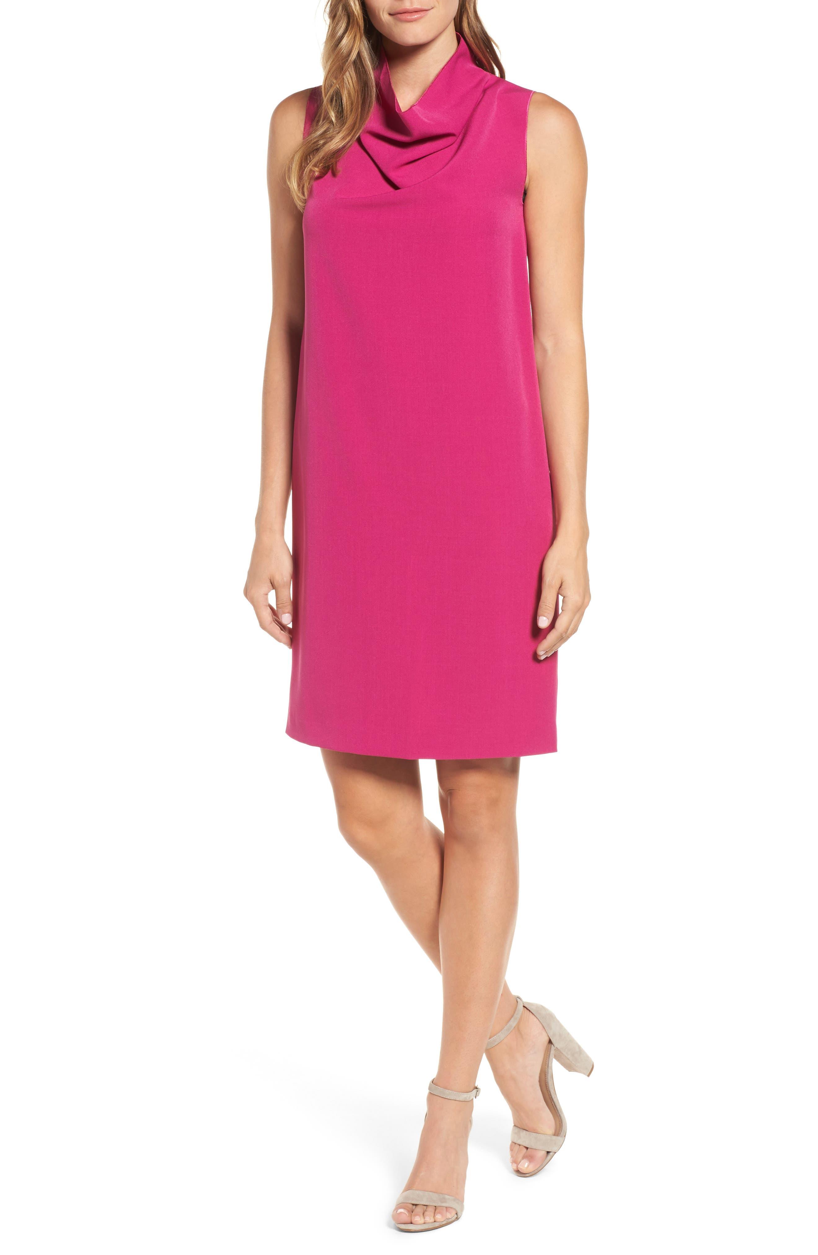Cowl Neck Sheath Dress,                             Main thumbnail 2, color,