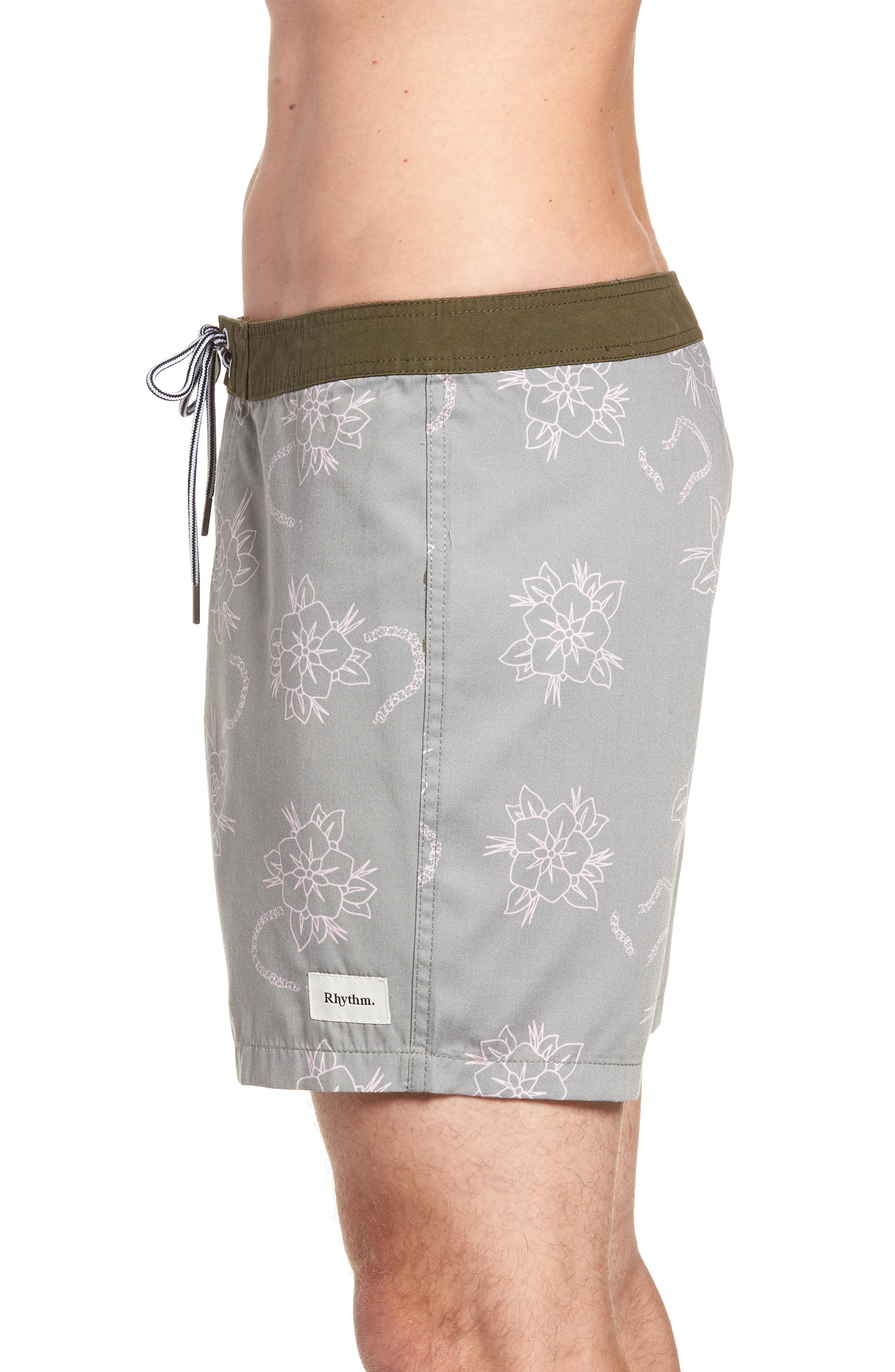 Island Swim Trunks,                             Alternate thumbnail 3, color,                             OLIVE