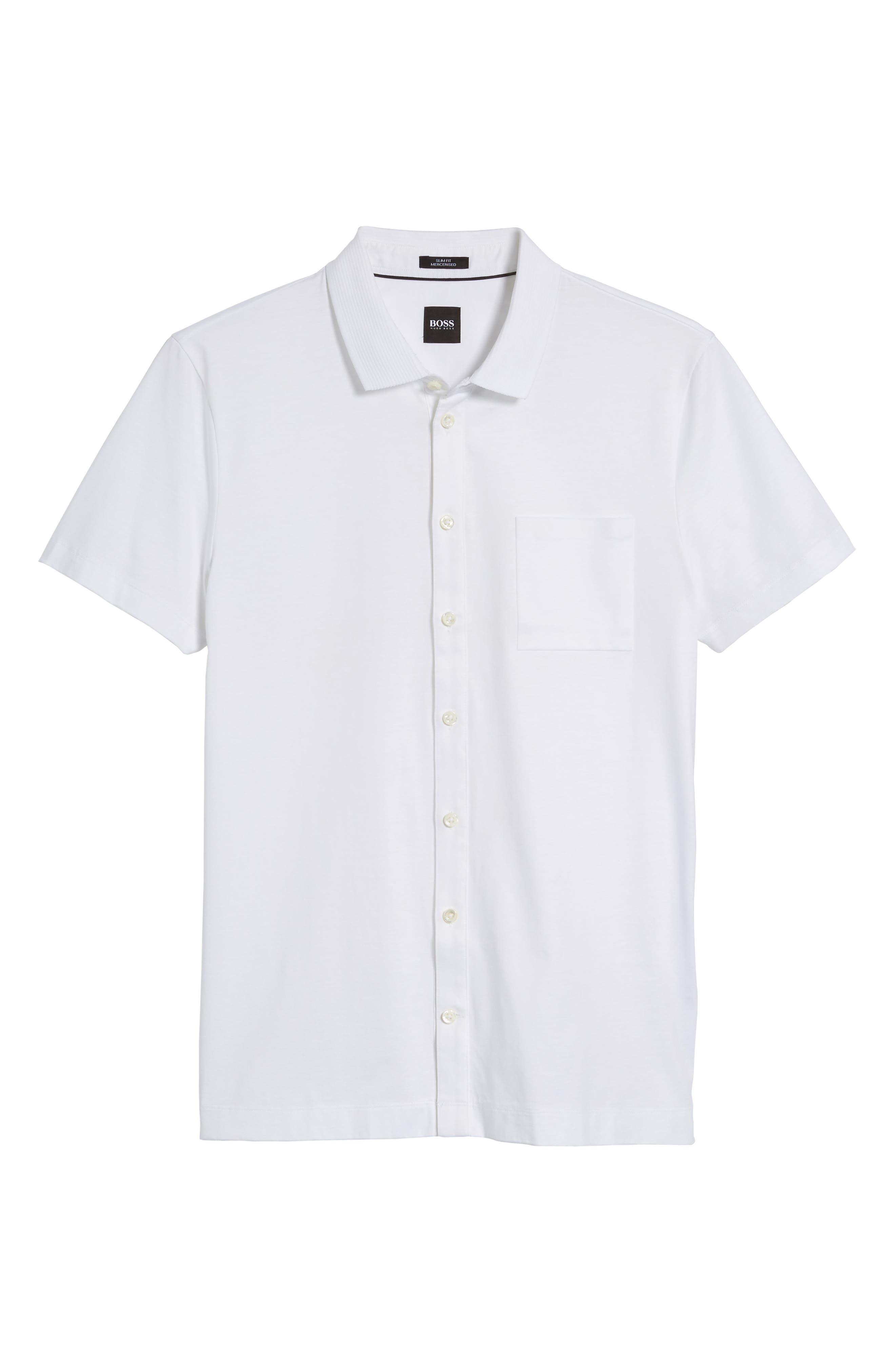 Puno Slim Fit Short Sleeve Sport Shirt,                             Alternate thumbnail 6, color,                             100