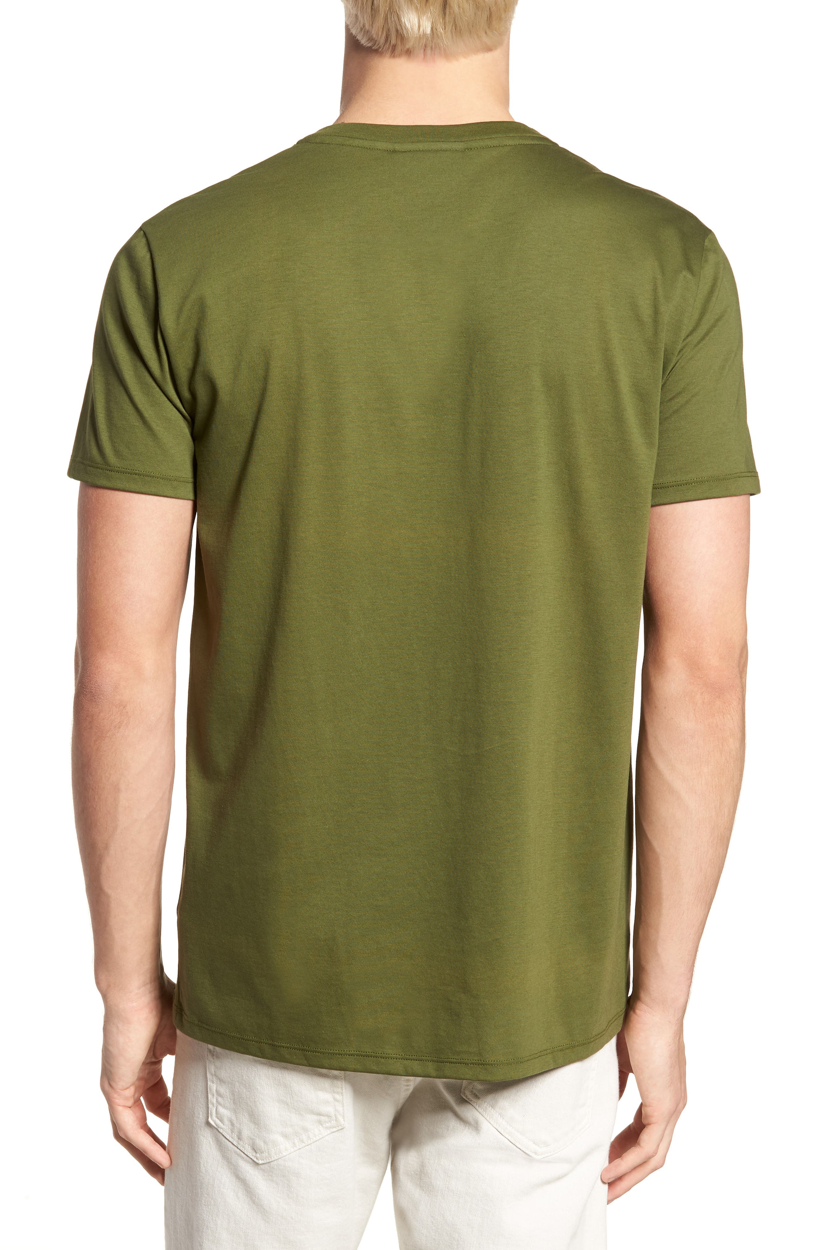 V-Neck Cotton T-Shirt,                             Alternate thumbnail 2, color,                             305