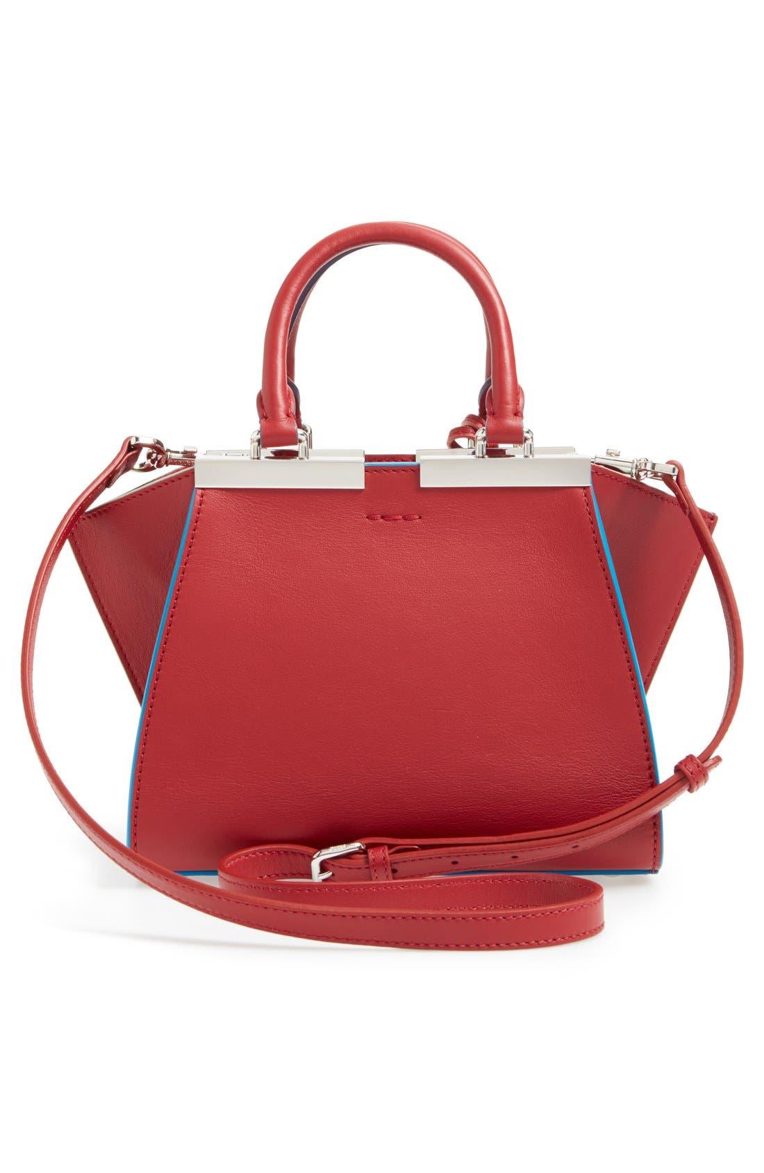 'Mini 3Jours' Calfskin Leather Shopper,                             Alternate thumbnail 14, color,