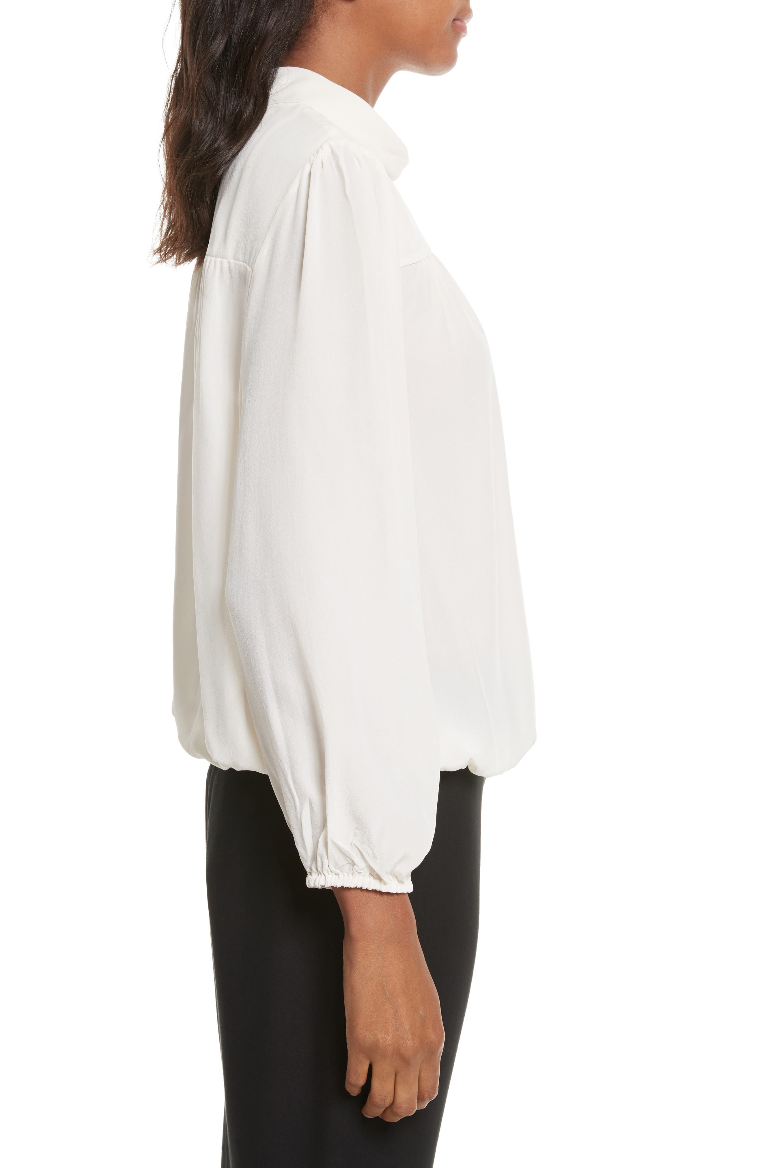 Lively Silk Top,                             Alternate thumbnail 3, color,