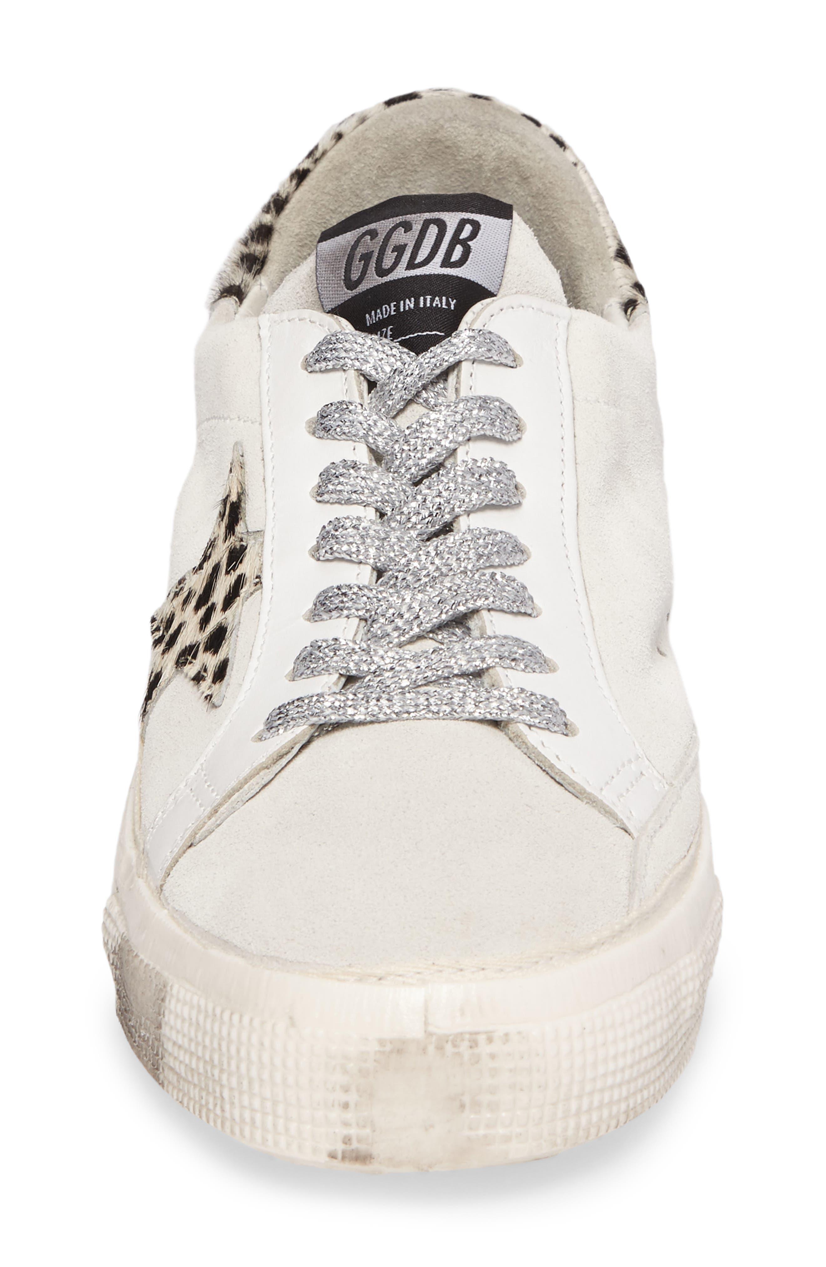 May Low Top Sneaker,                             Alternate thumbnail 4, color,                             100