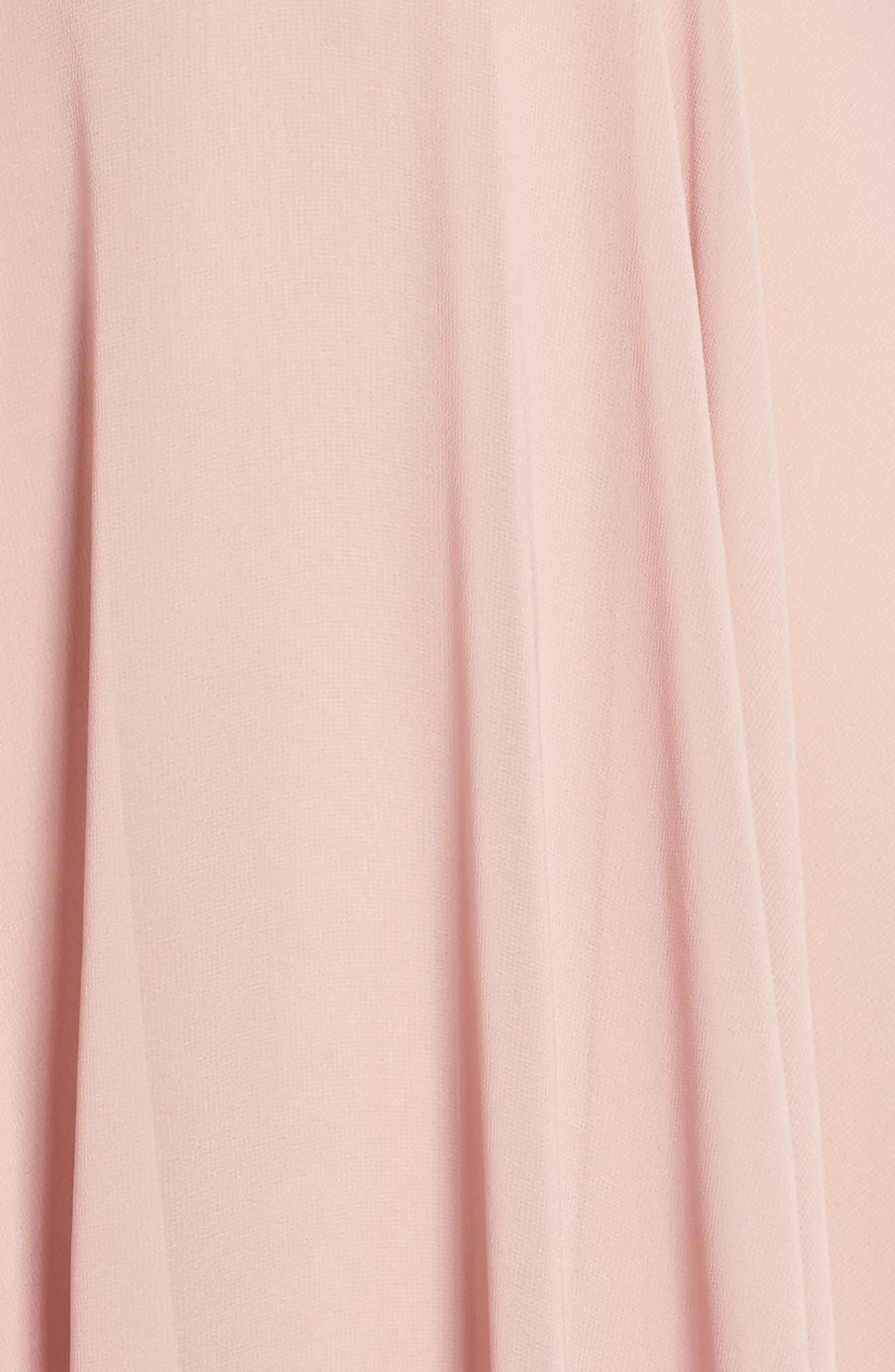 Kelli Cold Shoulder Chiffon Dress,                             Alternate thumbnail 5, color,                             664
