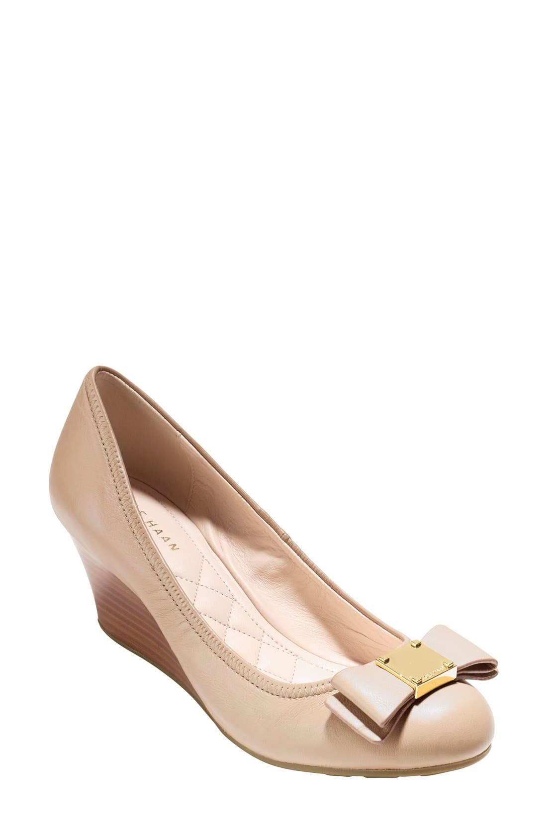 'Tali Grand' Bow Wedge Pump,                         Main,                         color, 250