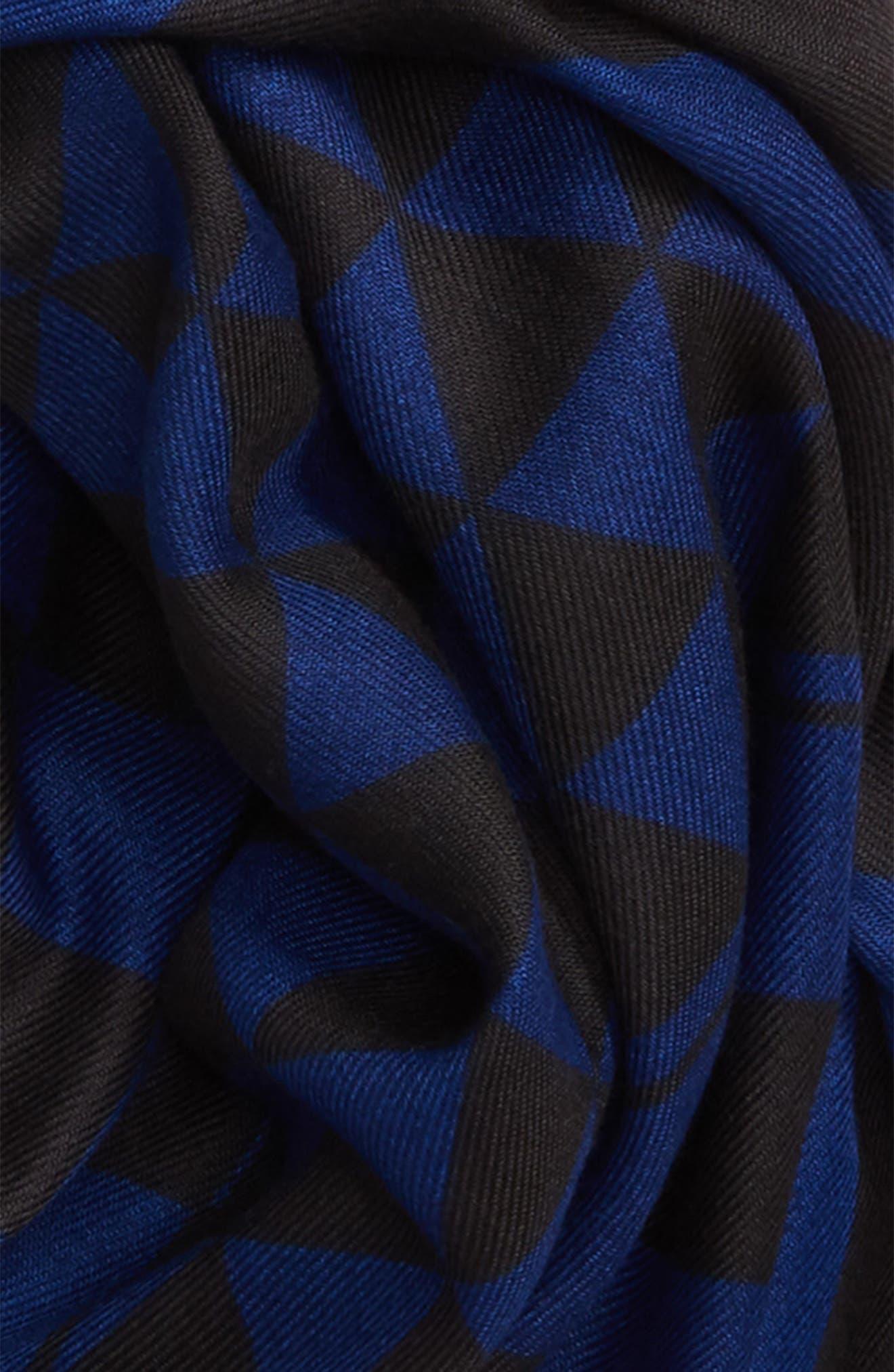 Checked Stripe Blanket Scarf,                             Alternate thumbnail 3, color,                             400