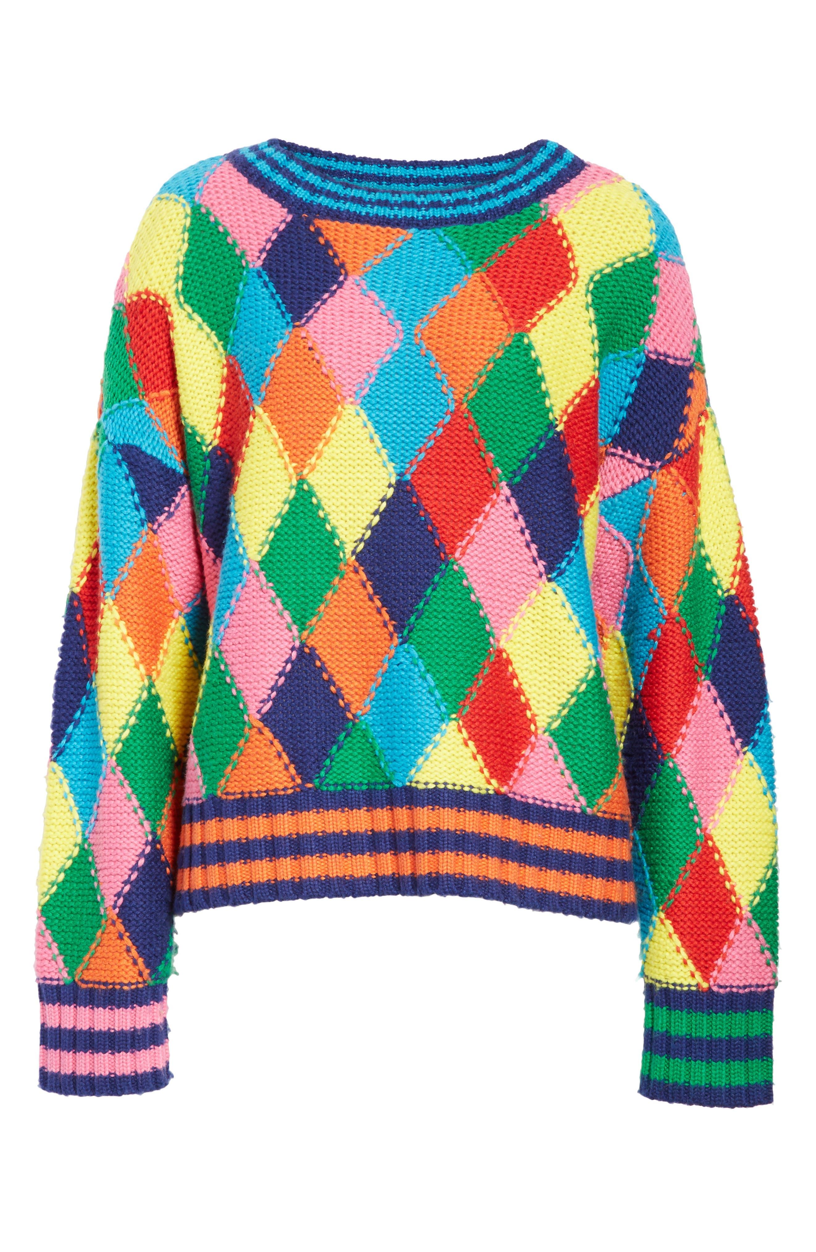 Diamond Stitch Sweater,                             Alternate thumbnail 6, color,                             960