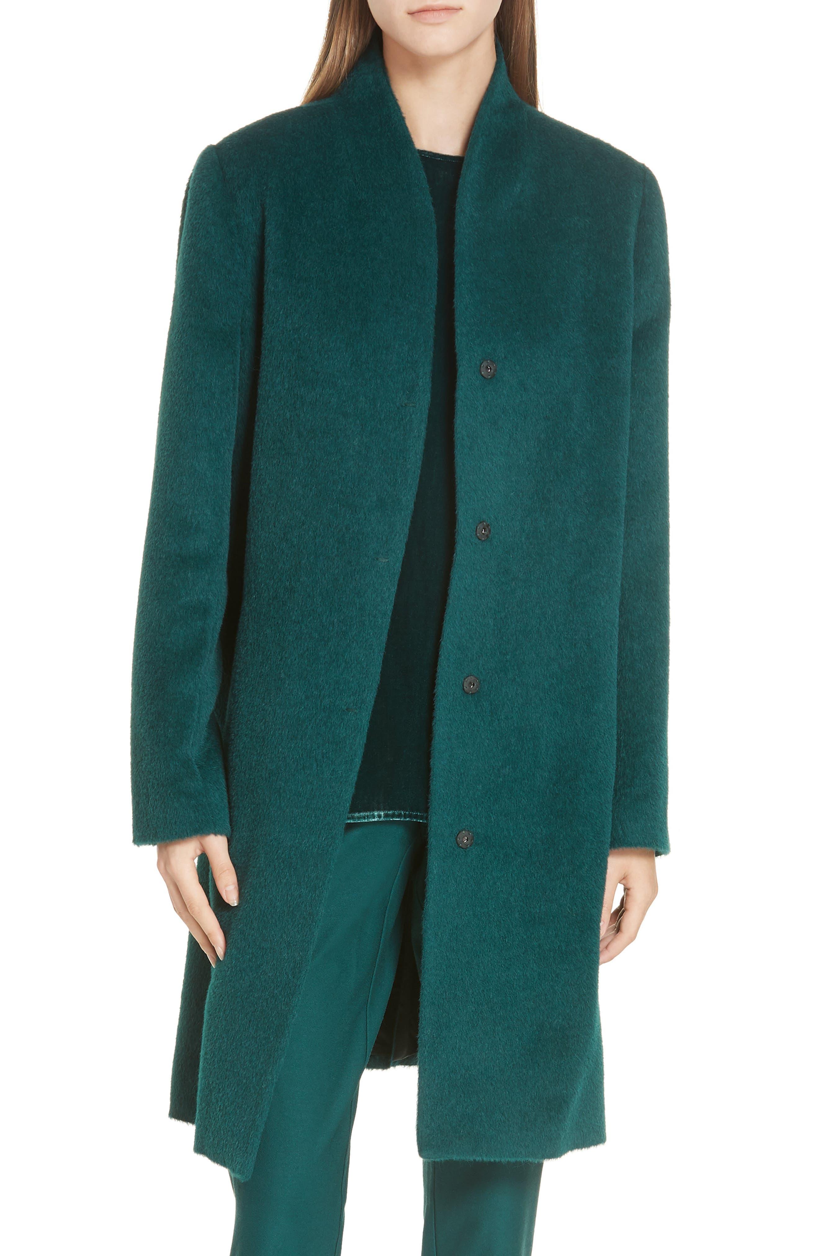 Suri Alpaca Blend Coat,                         Main,                         color, PINE