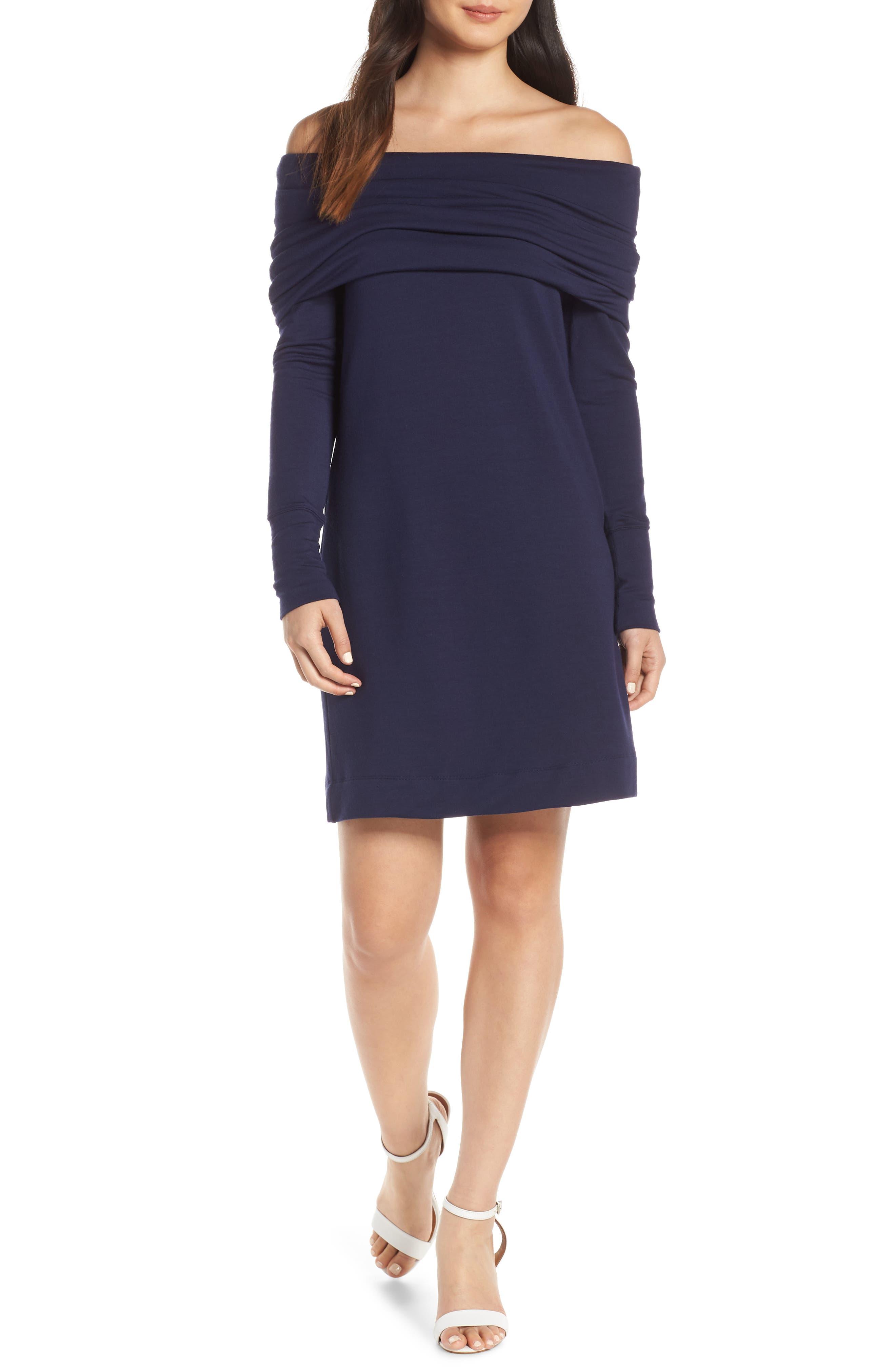 Lilly Pulitzer Belinda Off The Shoulder Banded Dress, Blue