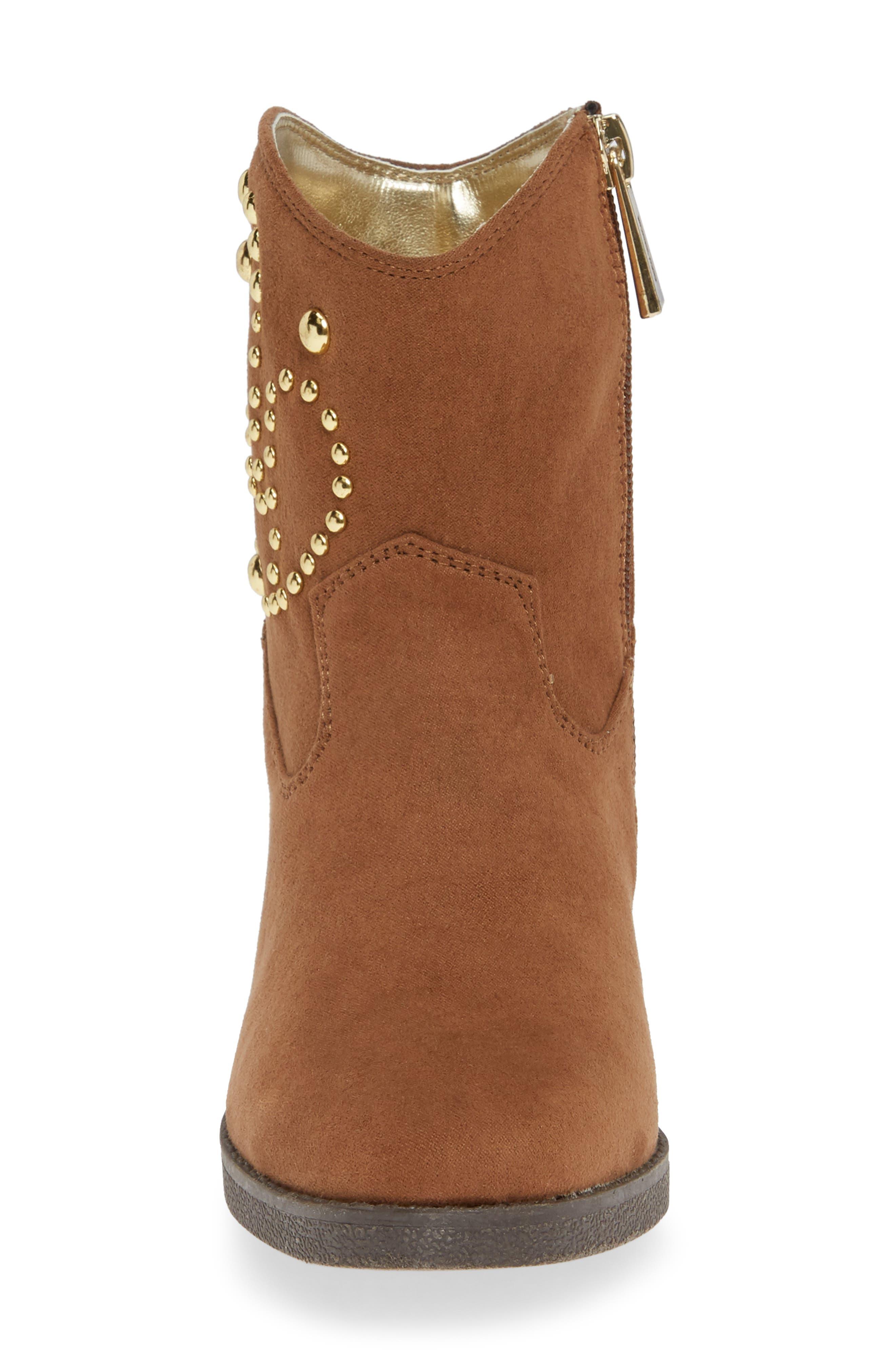 Fawn Desert Studded Boot,                             Alternate thumbnail 4, color,                             CARAMEL