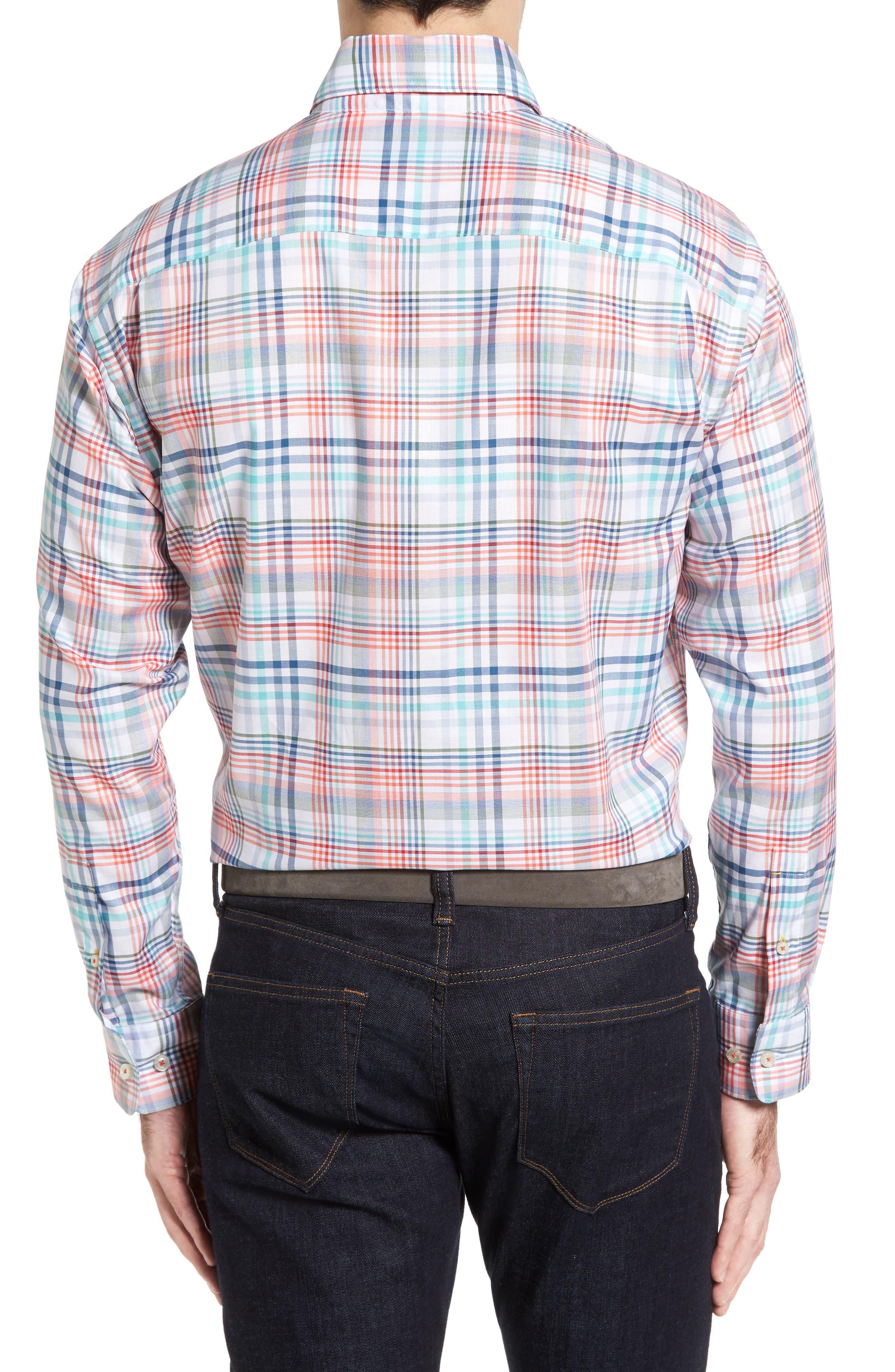 ROBERT TALBOTT,                             Anderson Classic Fit Plaid Twill Sport Shirt,                             Alternate thumbnail 2, color,                             860