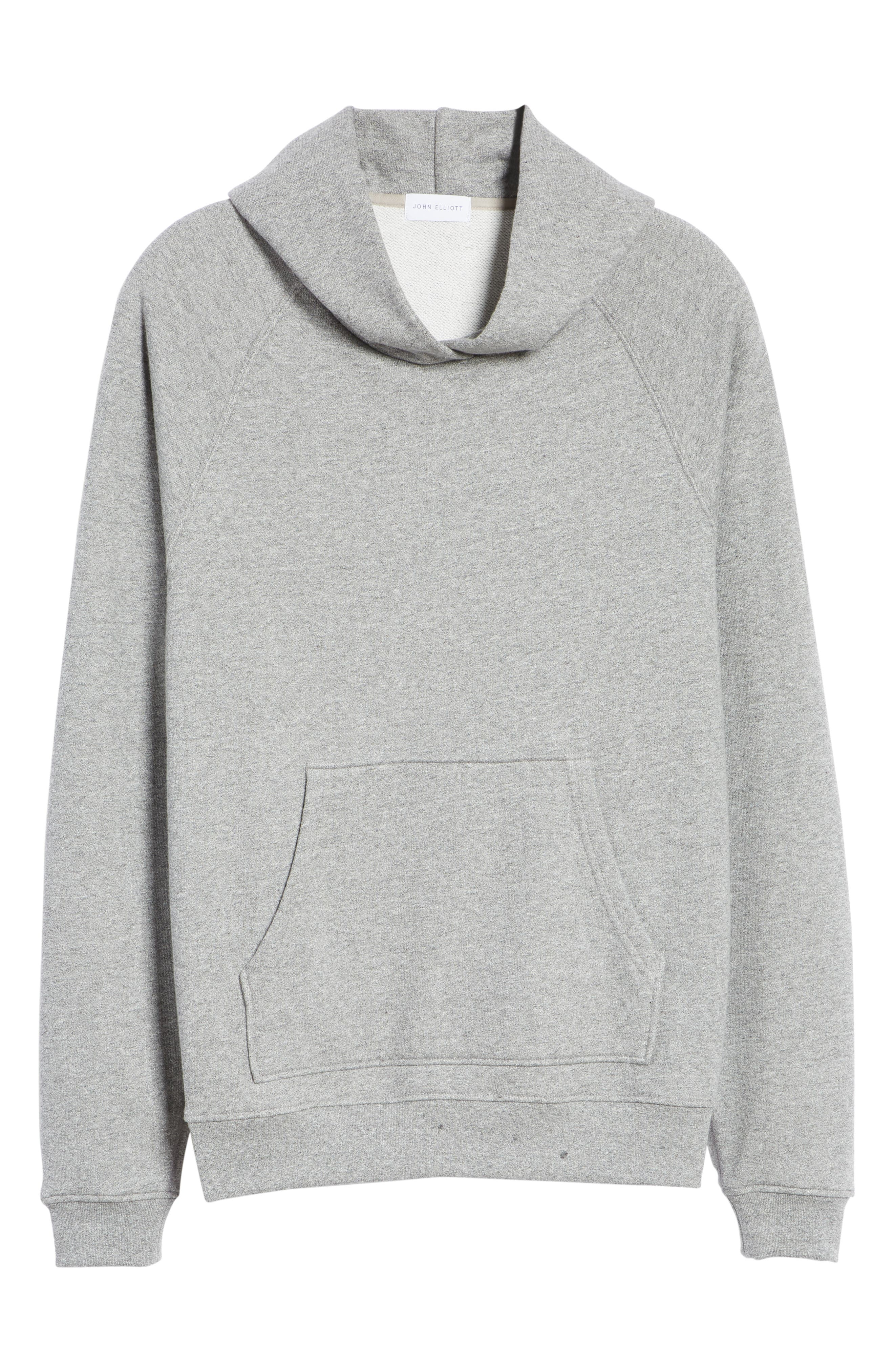 Raglan Hooded Sweatshirt,                             Alternate thumbnail 6, color,                             DARK GREY