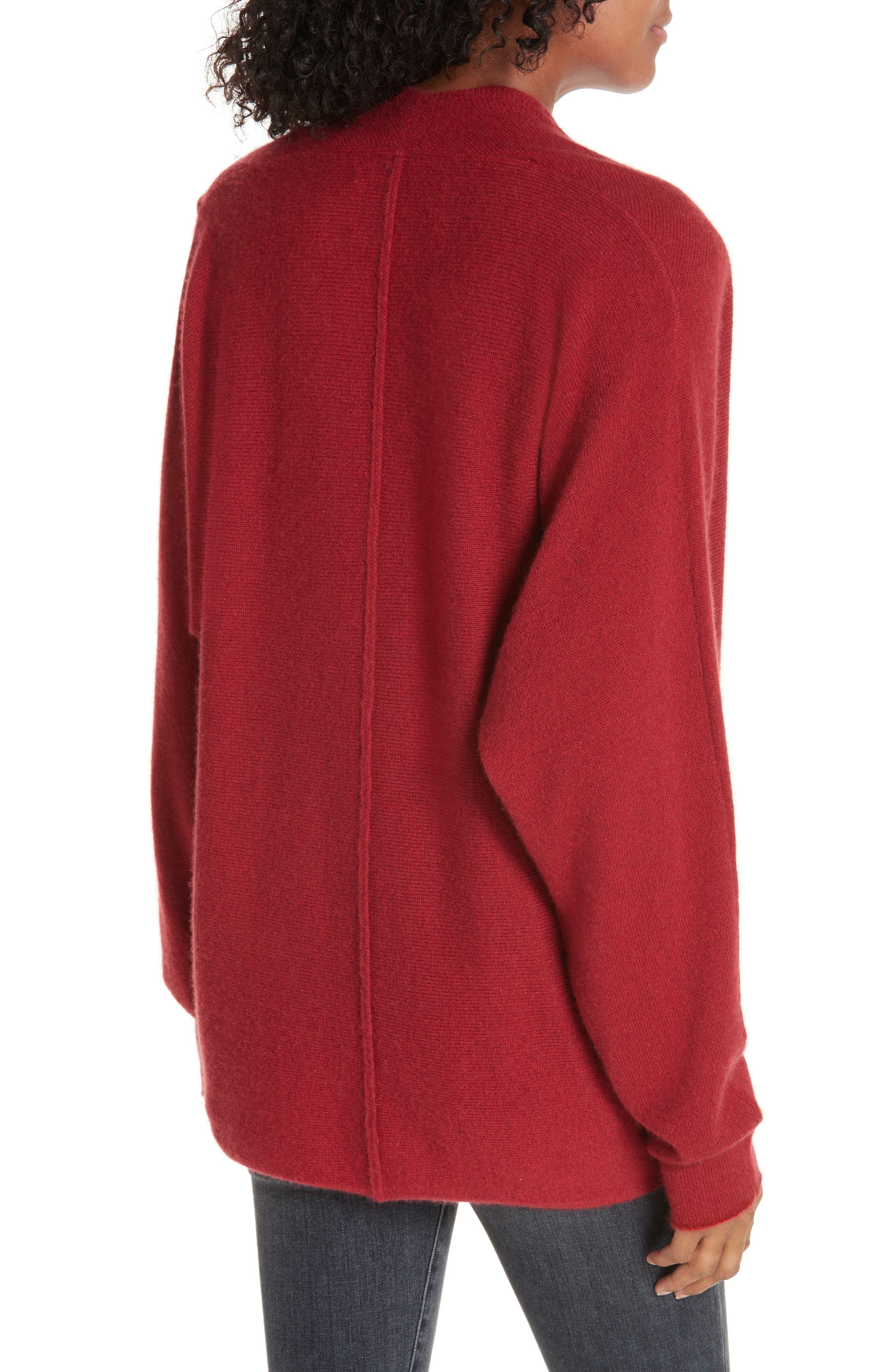 BROCHU WALKER,                             Clea Cashmere Wrap Sweater,                             Alternate thumbnail 2, color,                             TANGIER