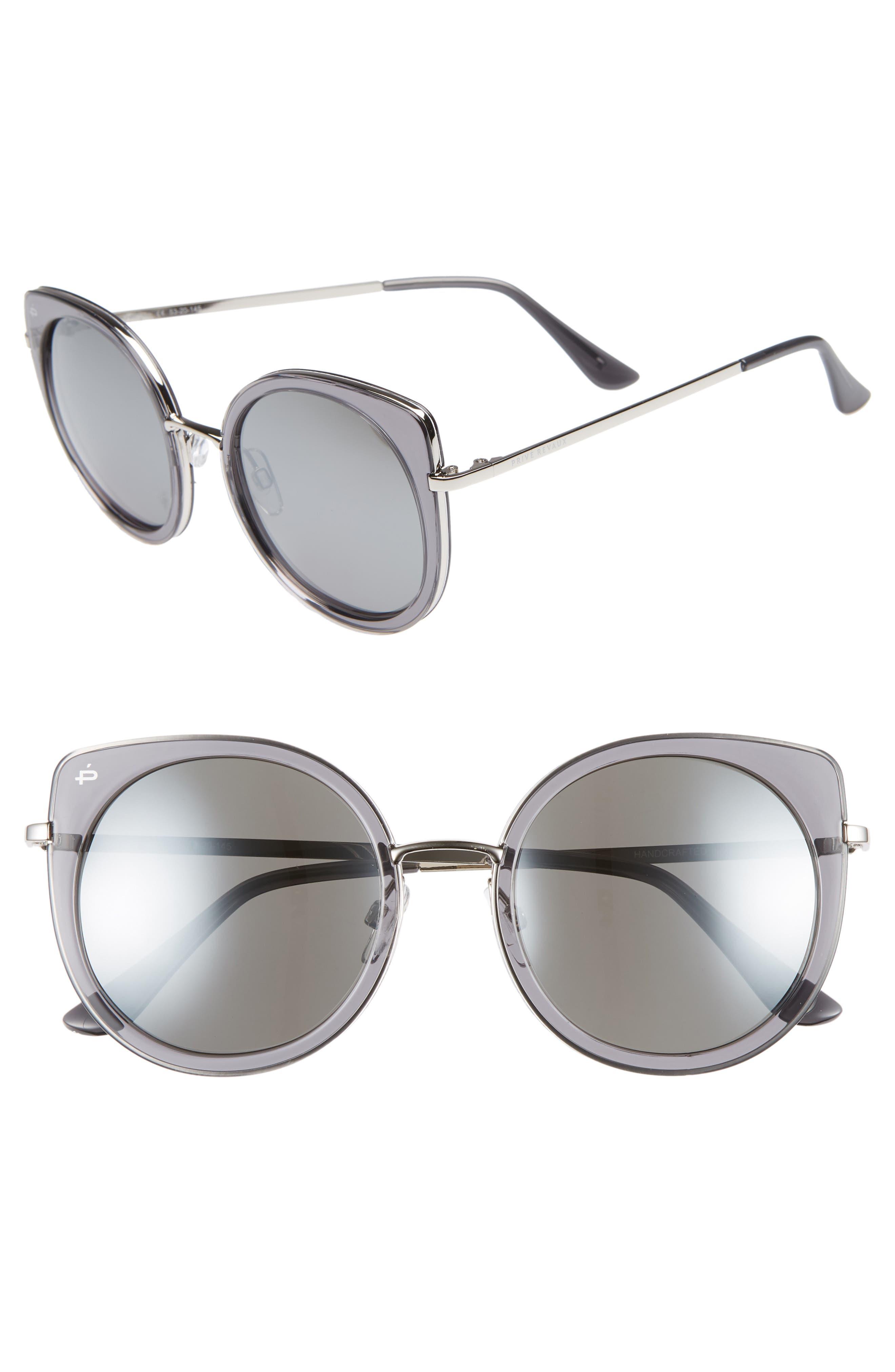 Privé Revaux The Georgian 53mm Sunglasses,                             Main thumbnail 1, color,                             CRYSTAL SMOKE