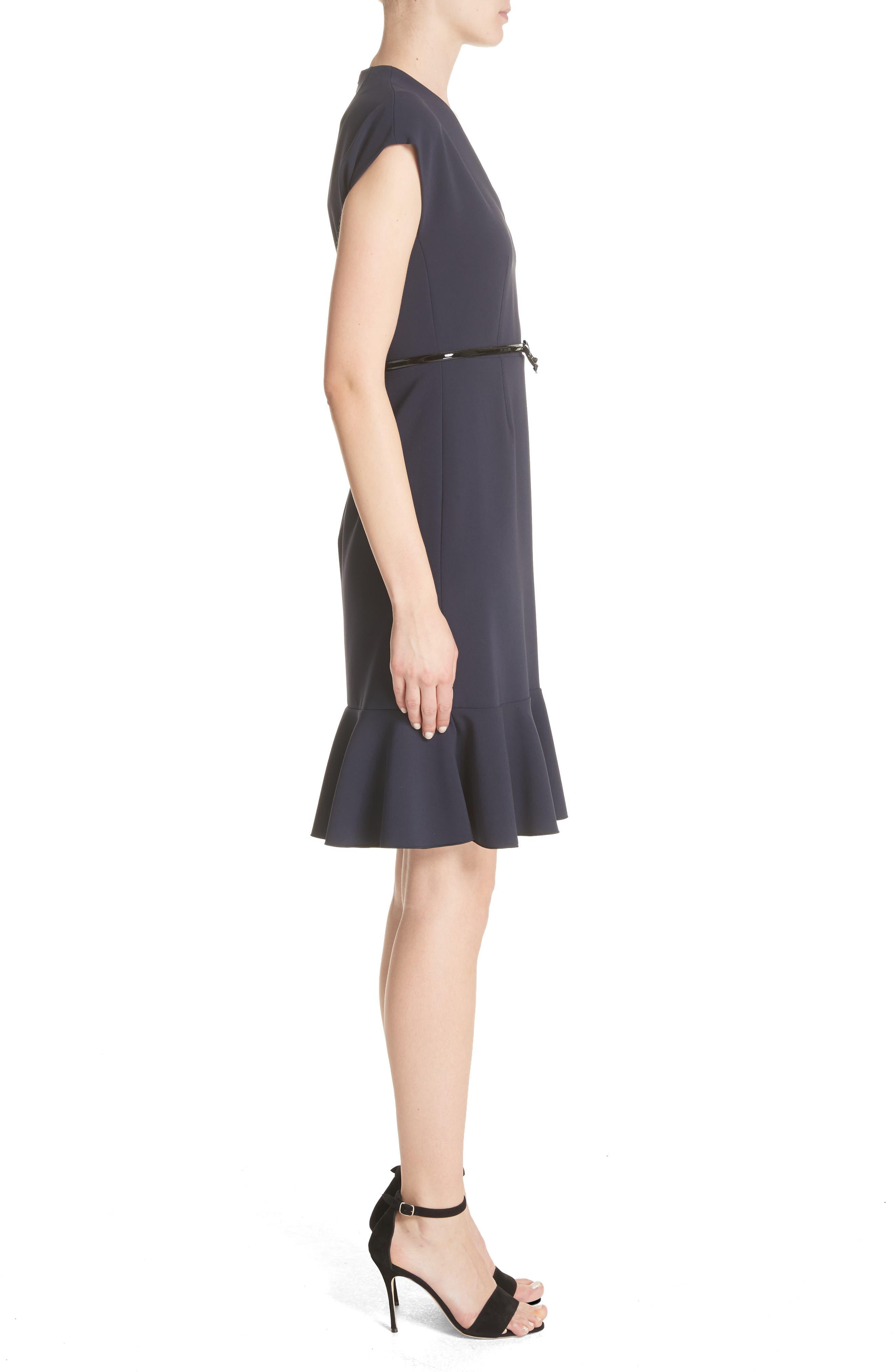 Porta Ruffle Hem Dress,                             Alternate thumbnail 3, color,                             410