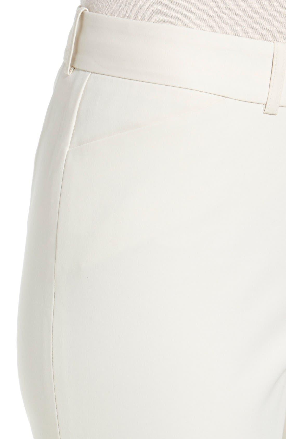 'Downtown' Stretch Cotton Blend Cuff Ankle Pants,                             Alternate thumbnail 5, color,                             265