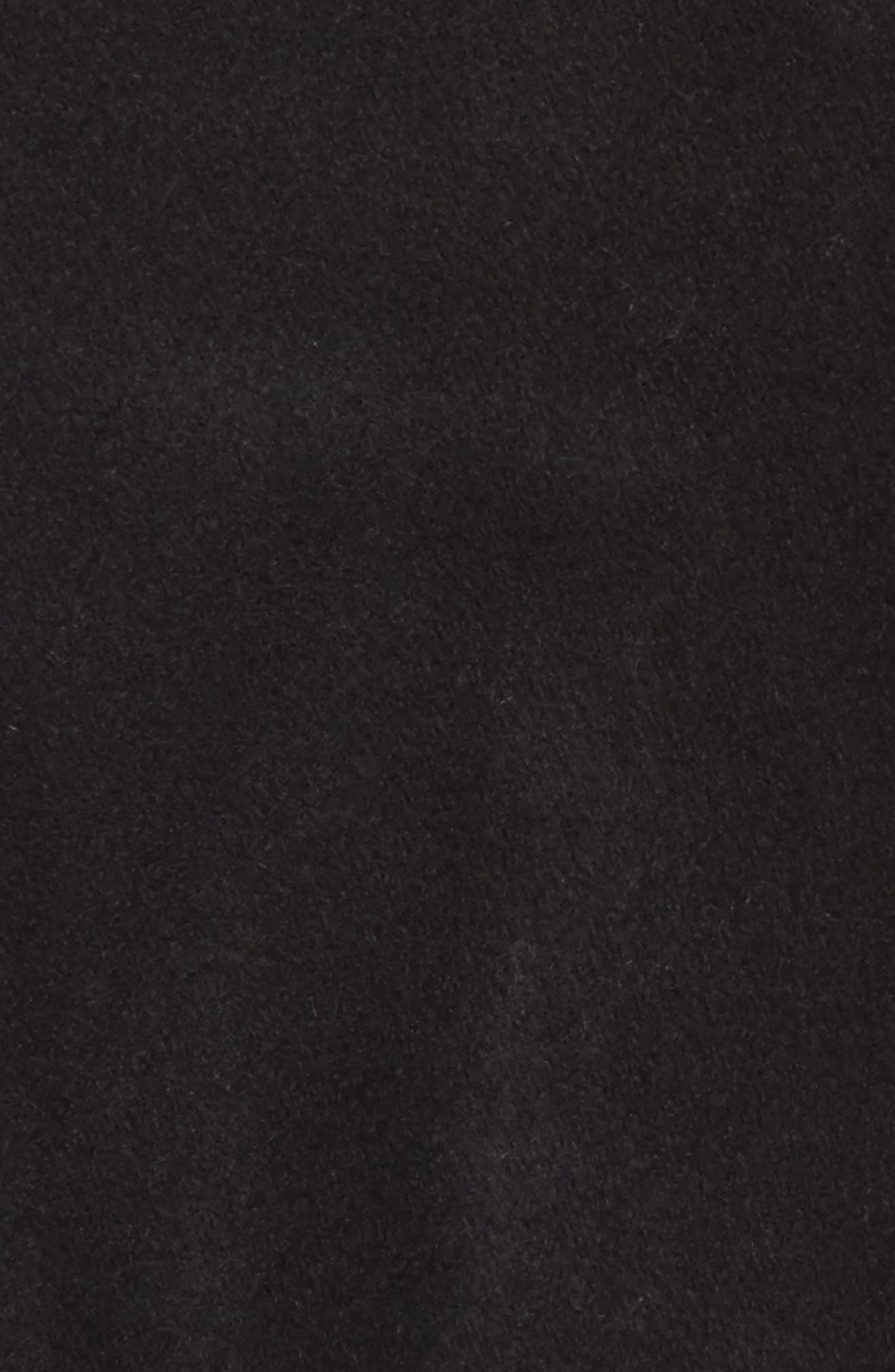 Baylee Asymmetrical Wool Blend Coat,                             Alternate thumbnail 6, color,                             001