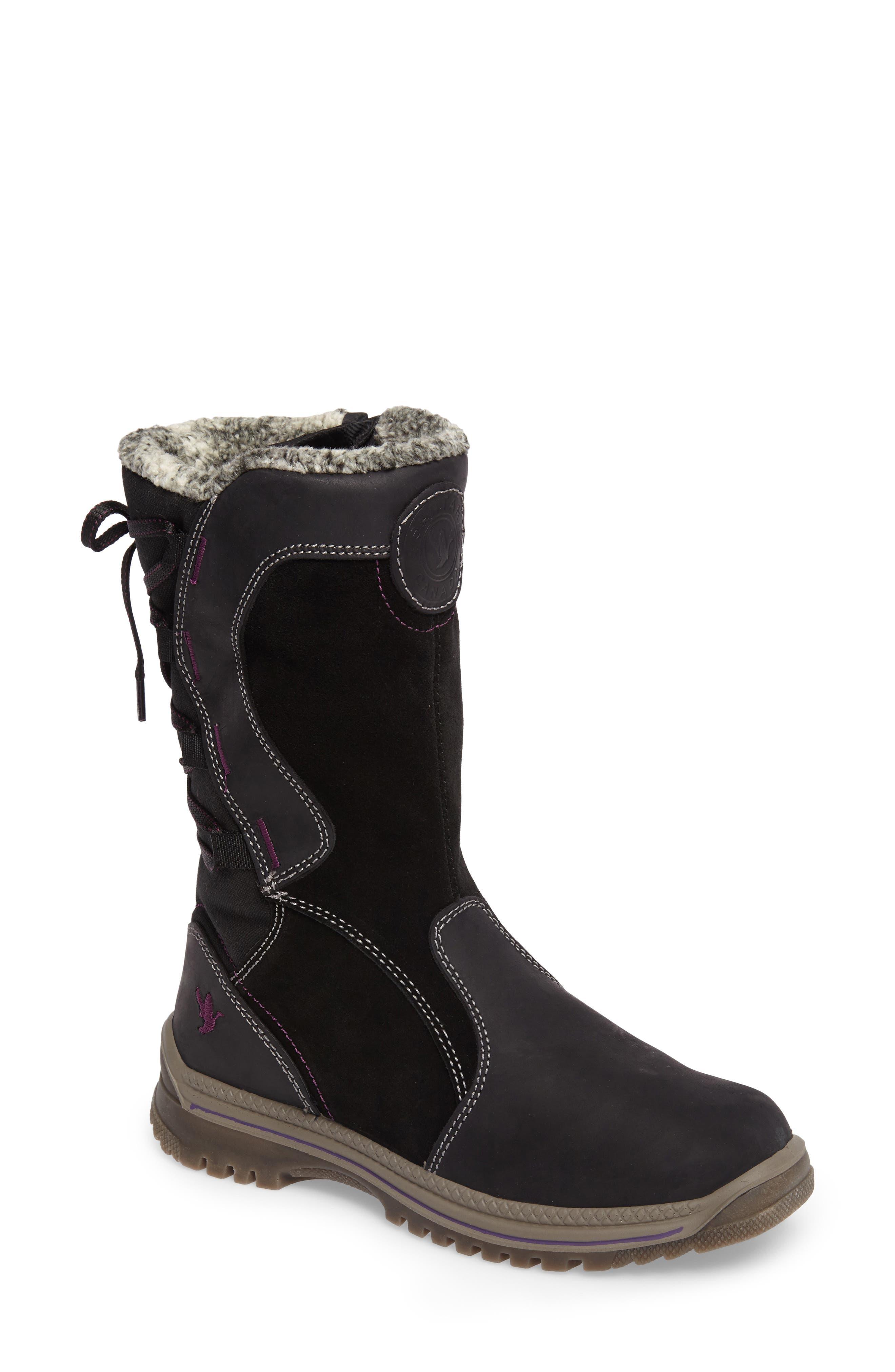 Mayer Faux Fur Lined Waterproof Boot,                             Main thumbnail 1, color,                             002