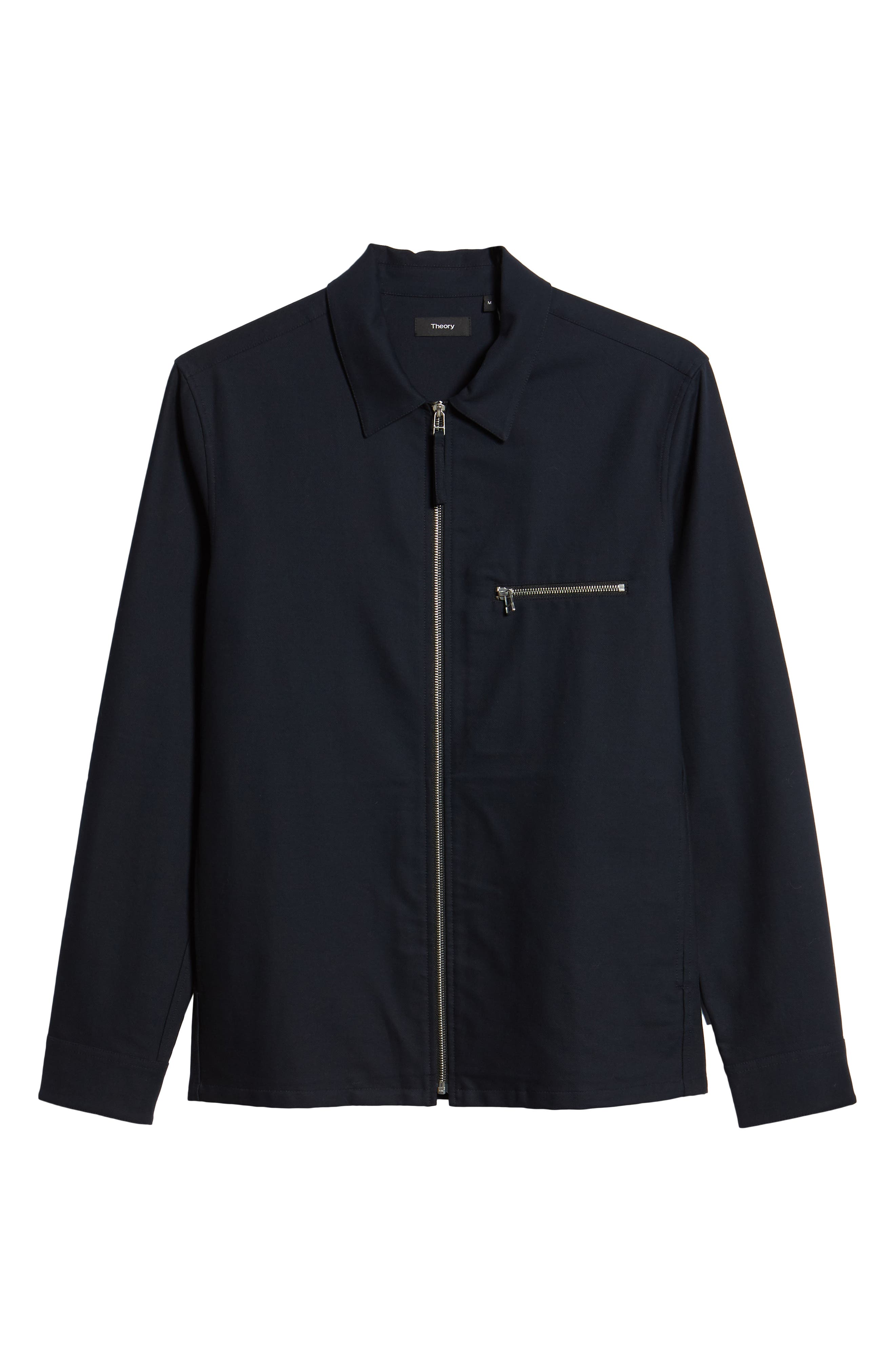 THEORY,                             Rye Stretch Cotton Jacket,                             Alternate thumbnail 5, color,                             497