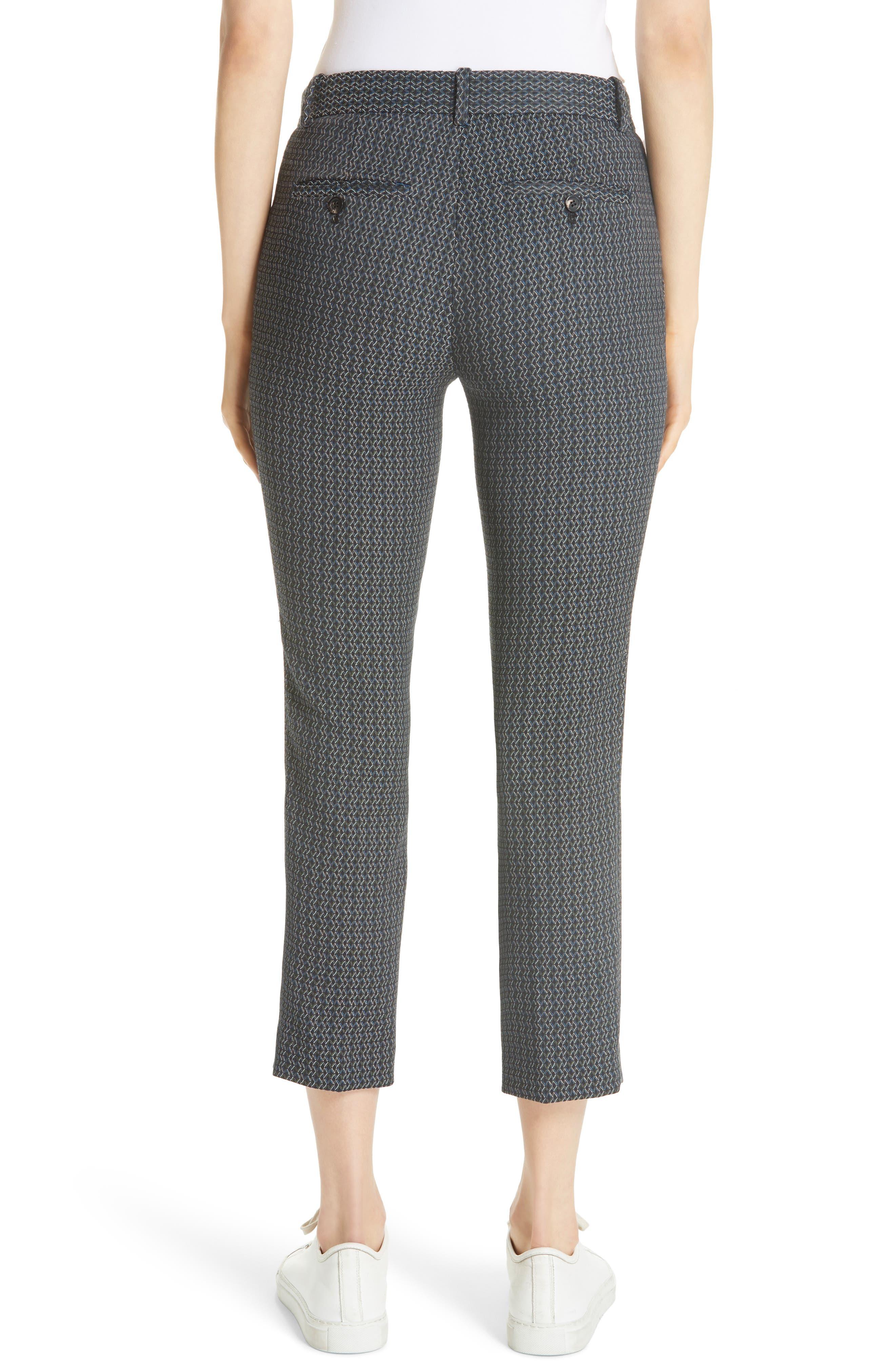 Treeca Shadow Jacquard Slim Crop Pants,                             Alternate thumbnail 2, color,                             MULTI