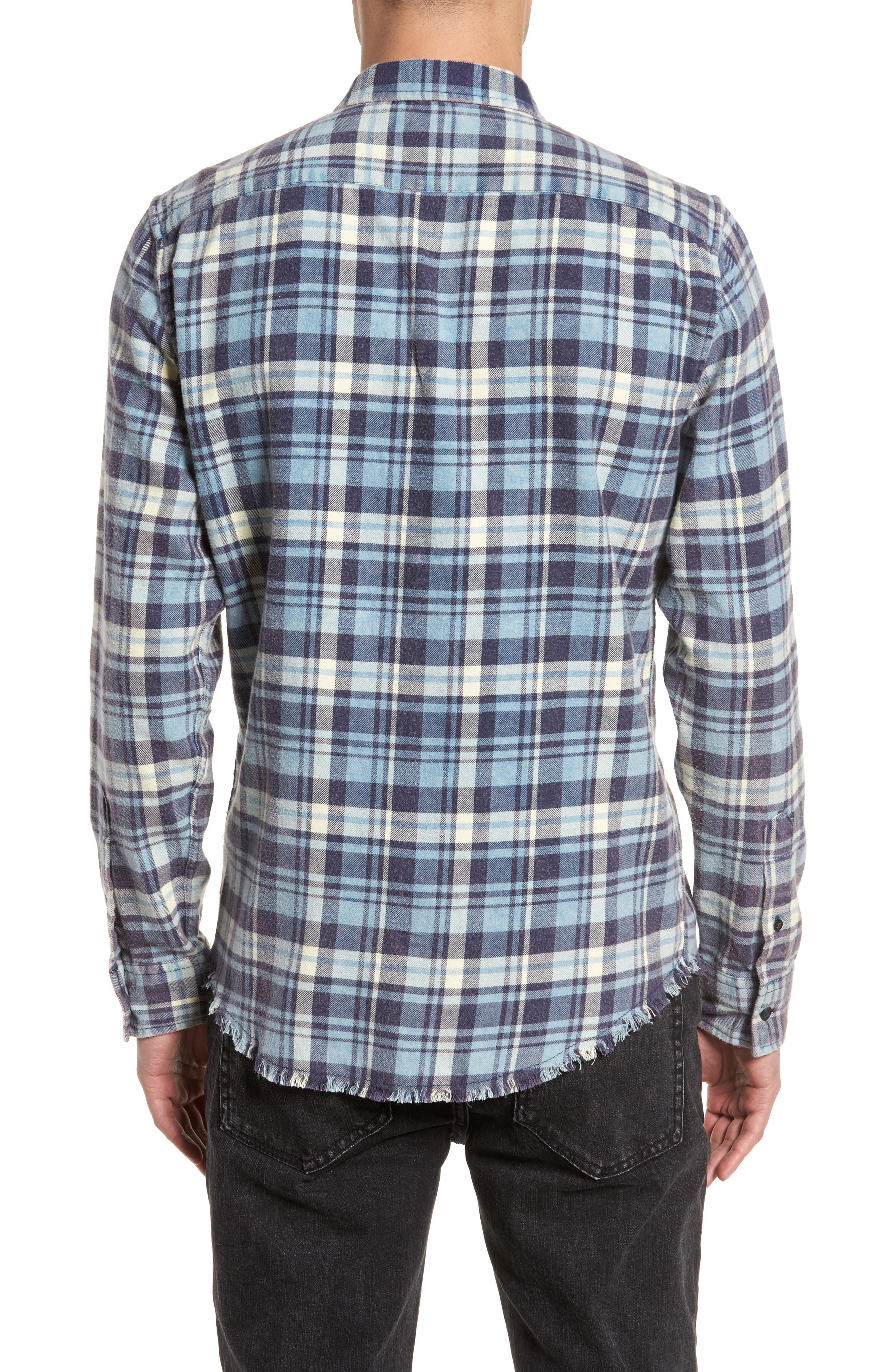 Plaid Flannel Shirt,                             Alternate thumbnail 2, color,                             420
