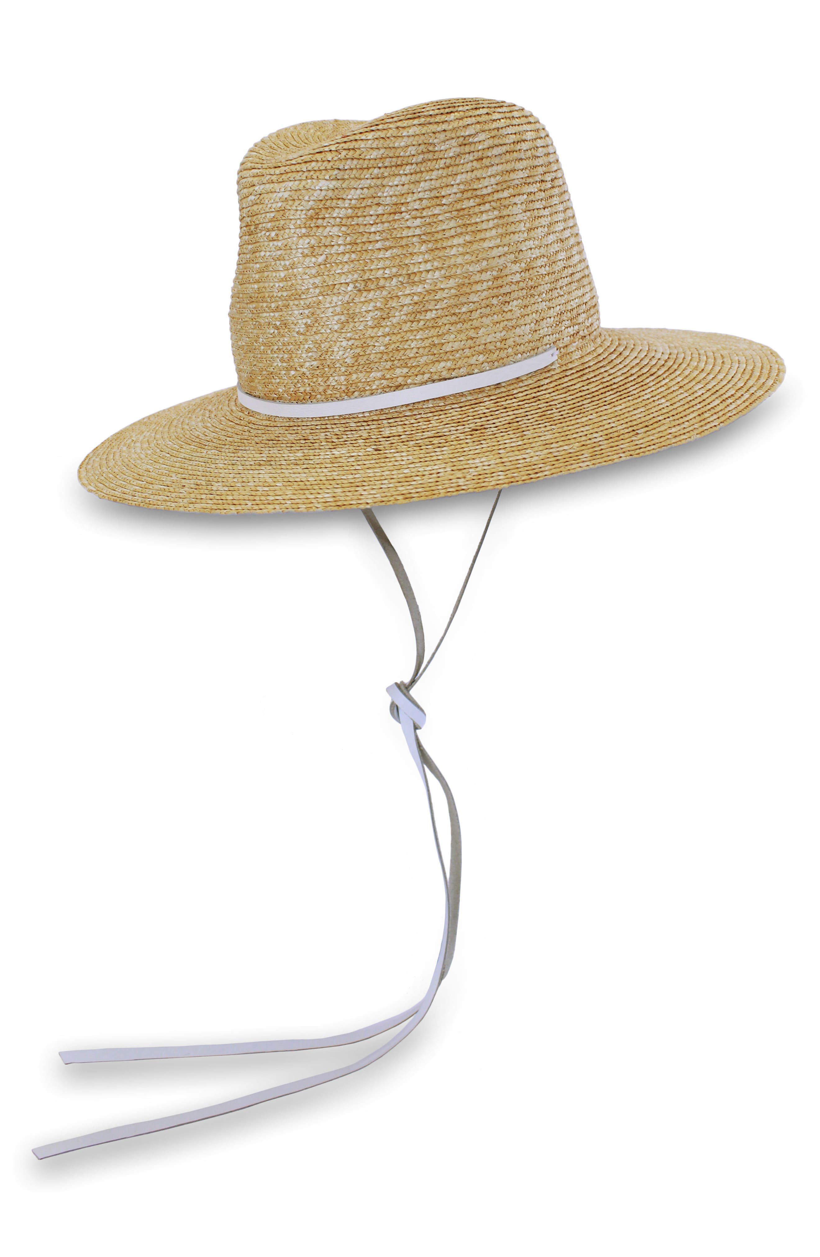 Marseille Straw Hat,                             Main thumbnail 1, color,                             NATURAL/ WHITE