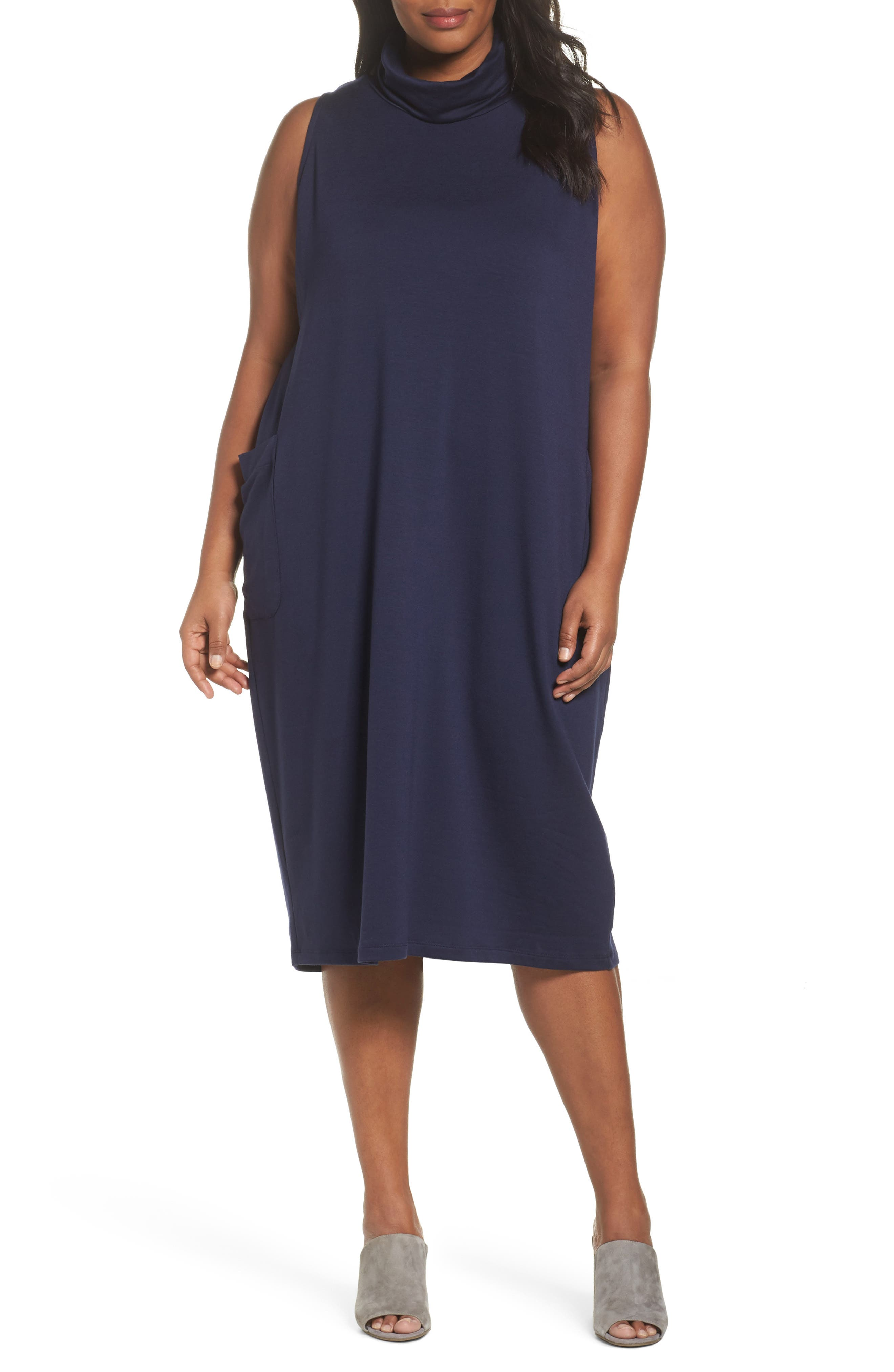 Stretch Tencel<sup>®</sup> Knit Jumper Dress,                             Main thumbnail 3, color,
