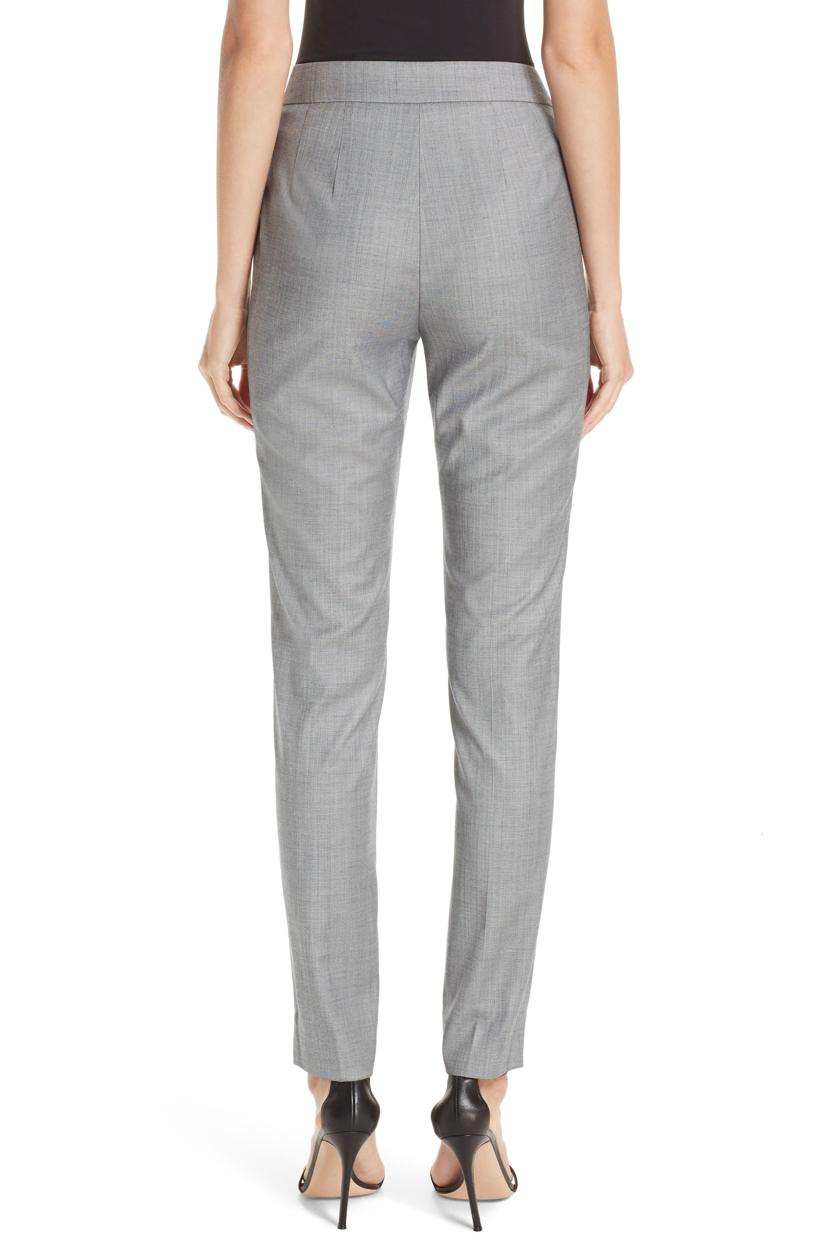 Sharkskin Stretch Wool Blend Skinny Ankle Pants,                             Alternate thumbnail 2, color,                             GREY MULTI