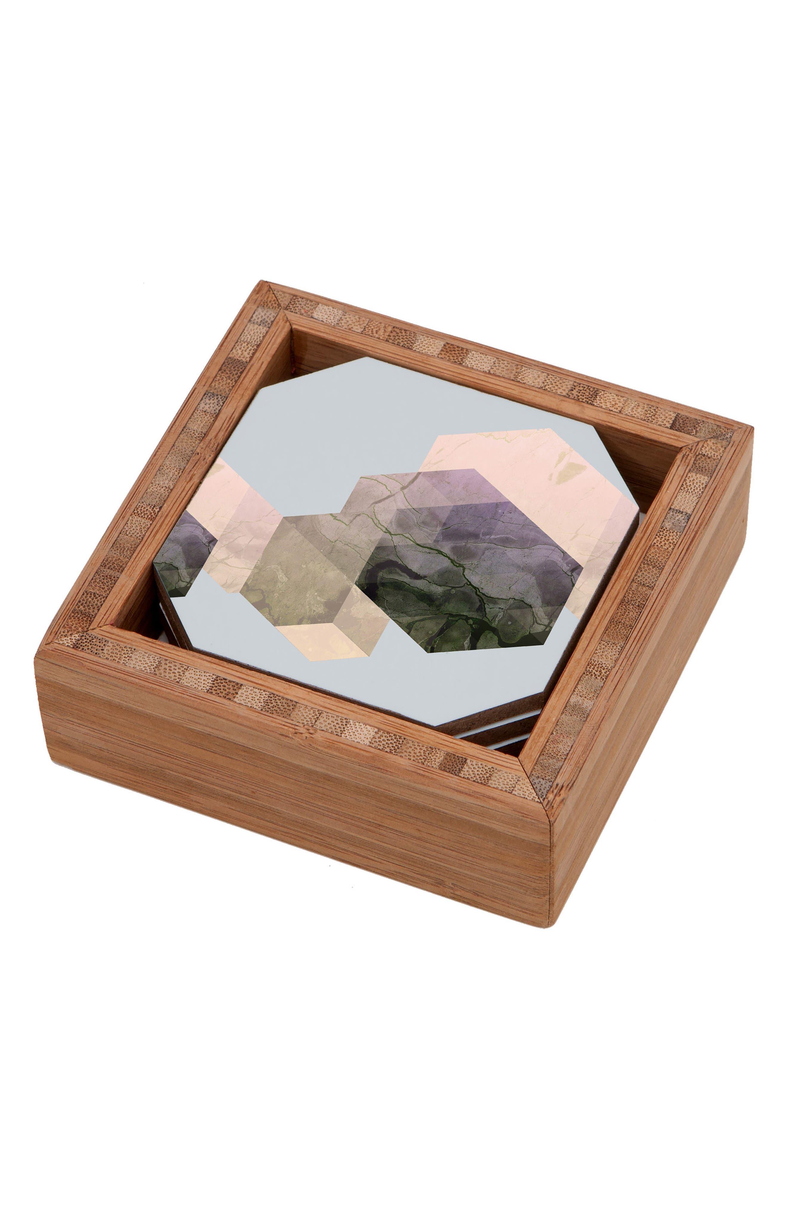 Marble Set of 4 Coasters,                         Main,                         color, MULTI