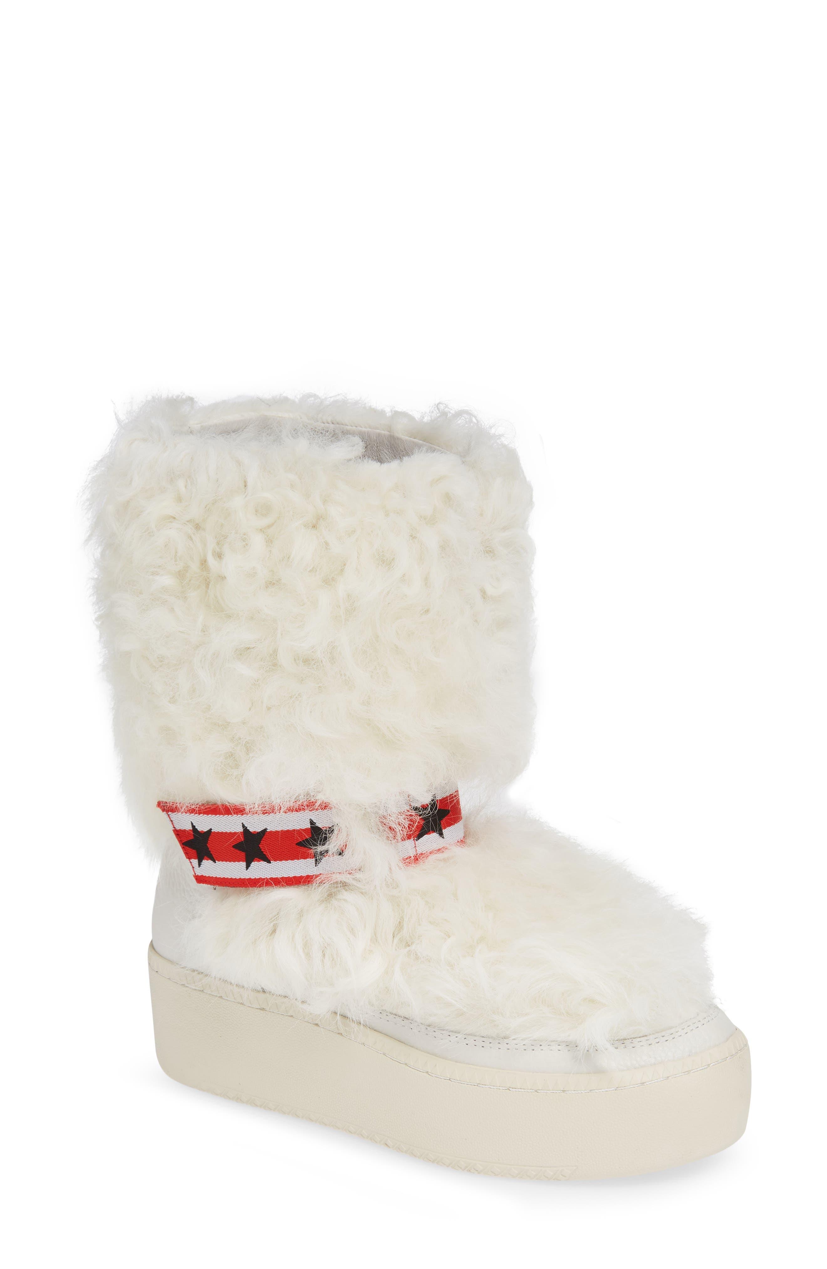Ash Cool Genuine Shearling Boot, White