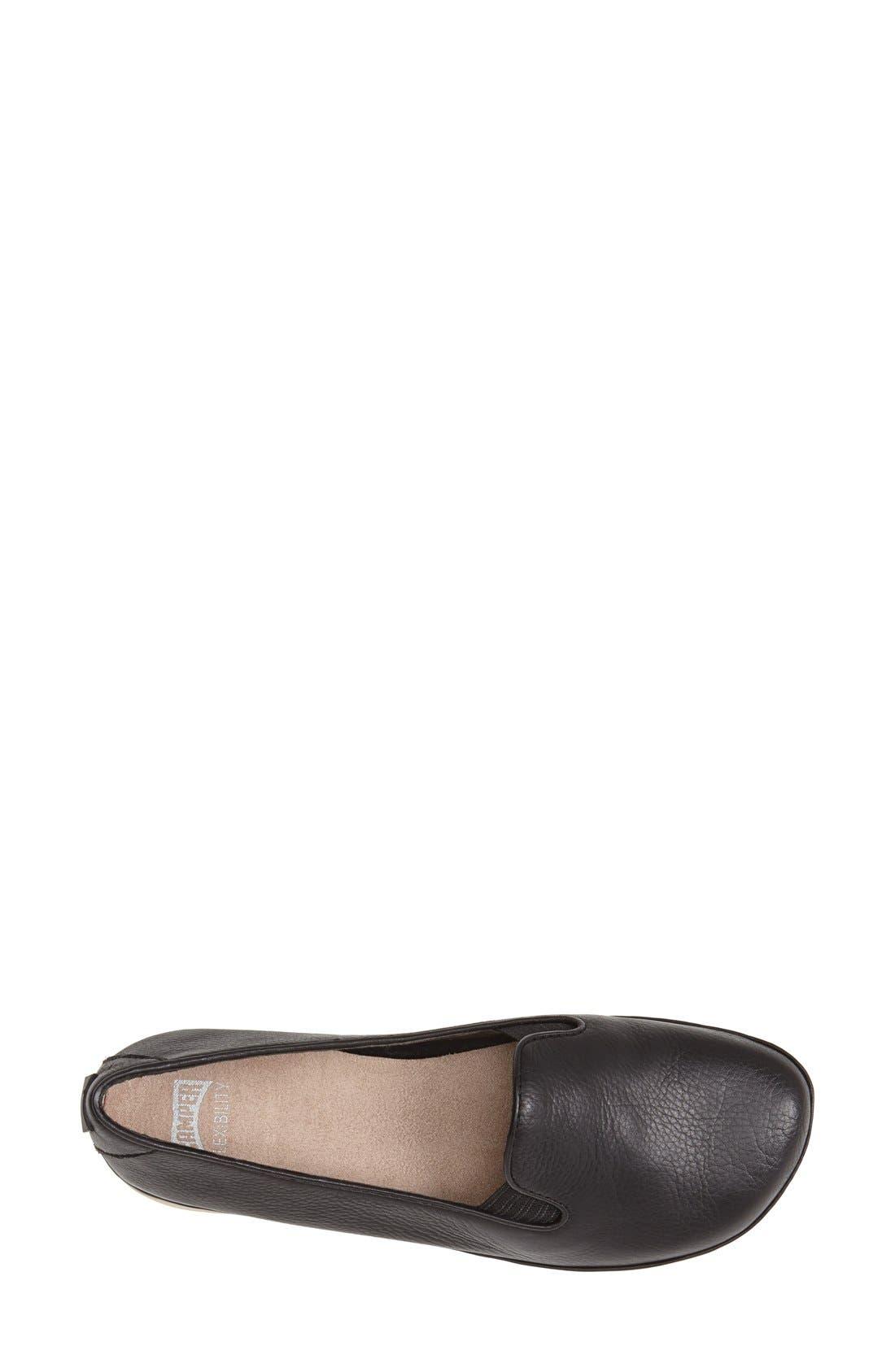 'Right Nina' Leather Flat,                             Alternate thumbnail 21, color,